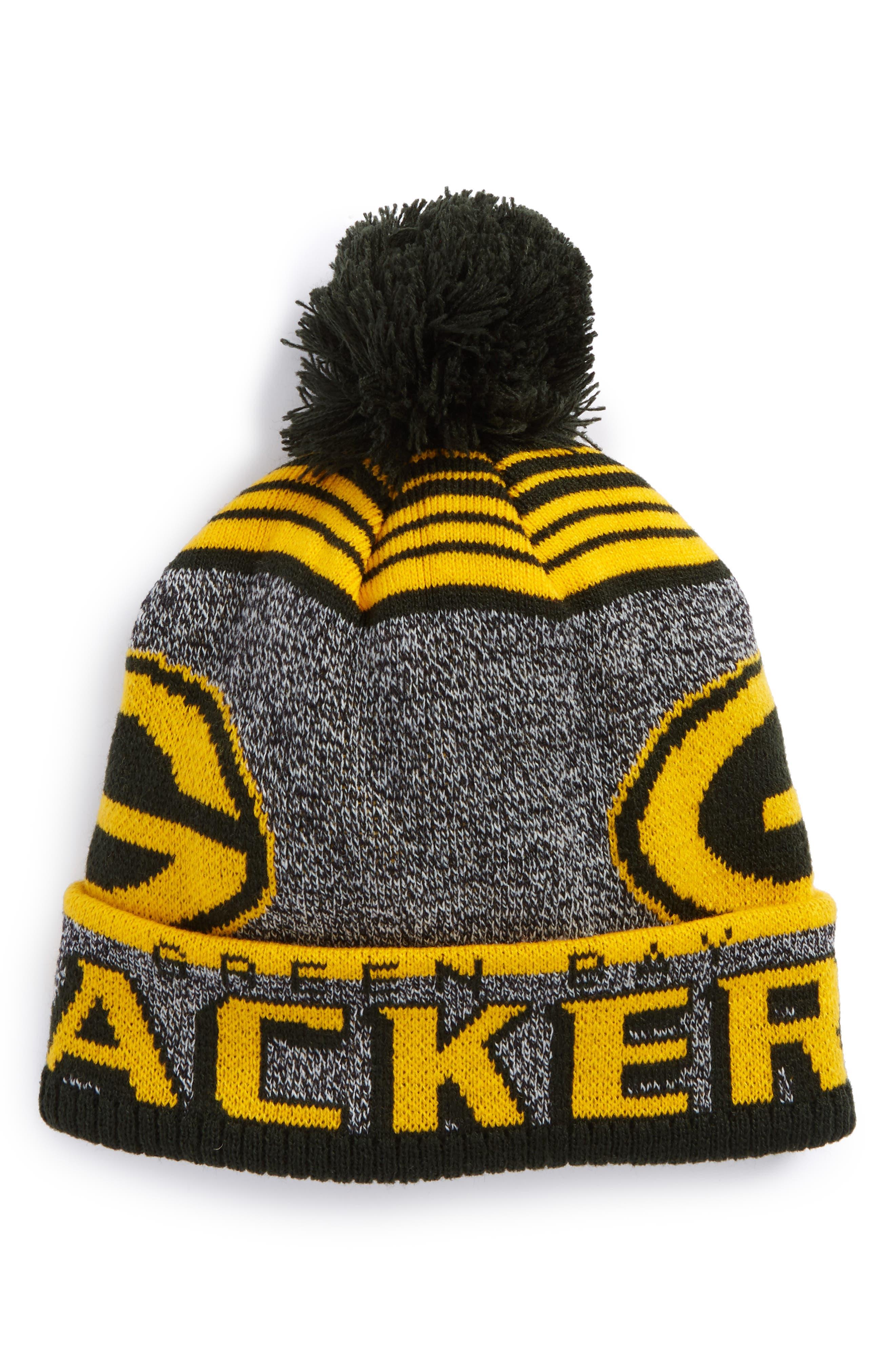 NFL Logo Jacquard Knit Cap,                         Main,                         color, Packers