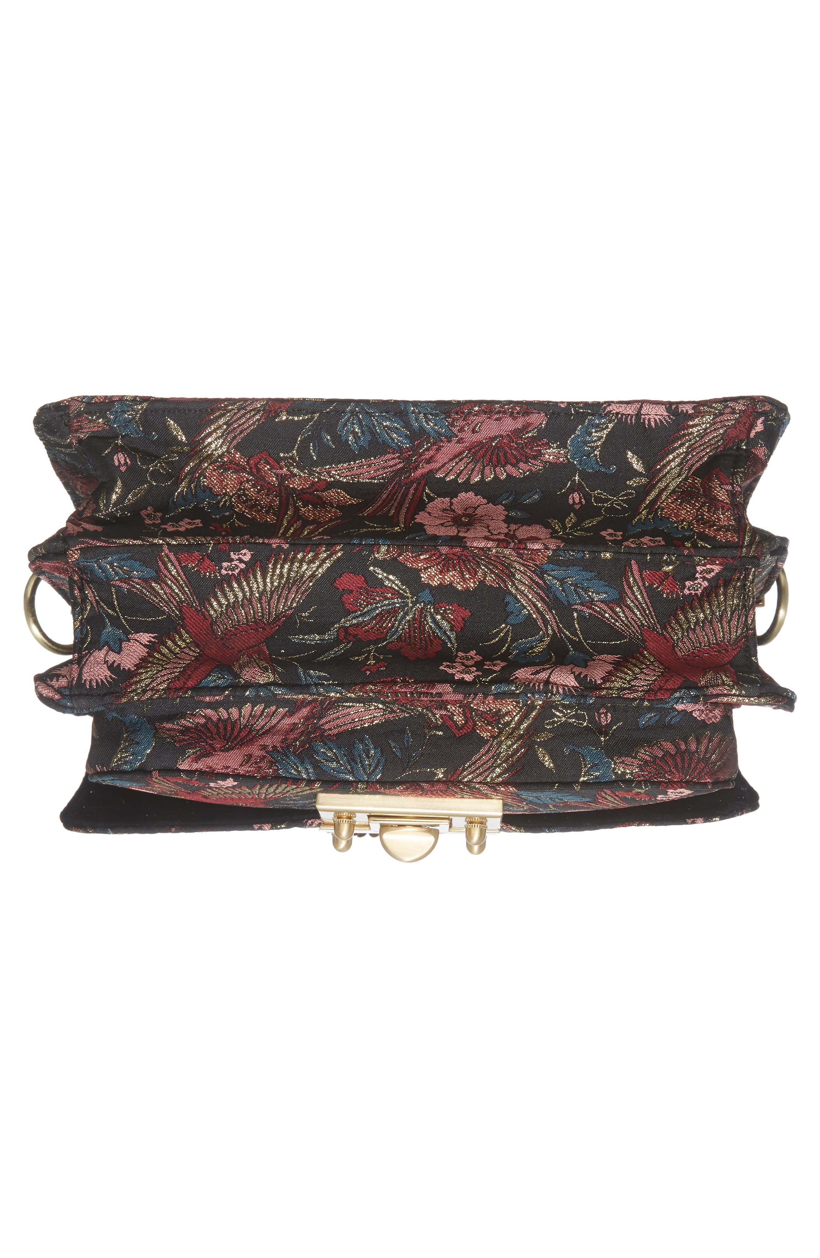 Gessica Jacquard Shoulder Bag,                             Alternate thumbnail 5, color,                             Majestic Bird