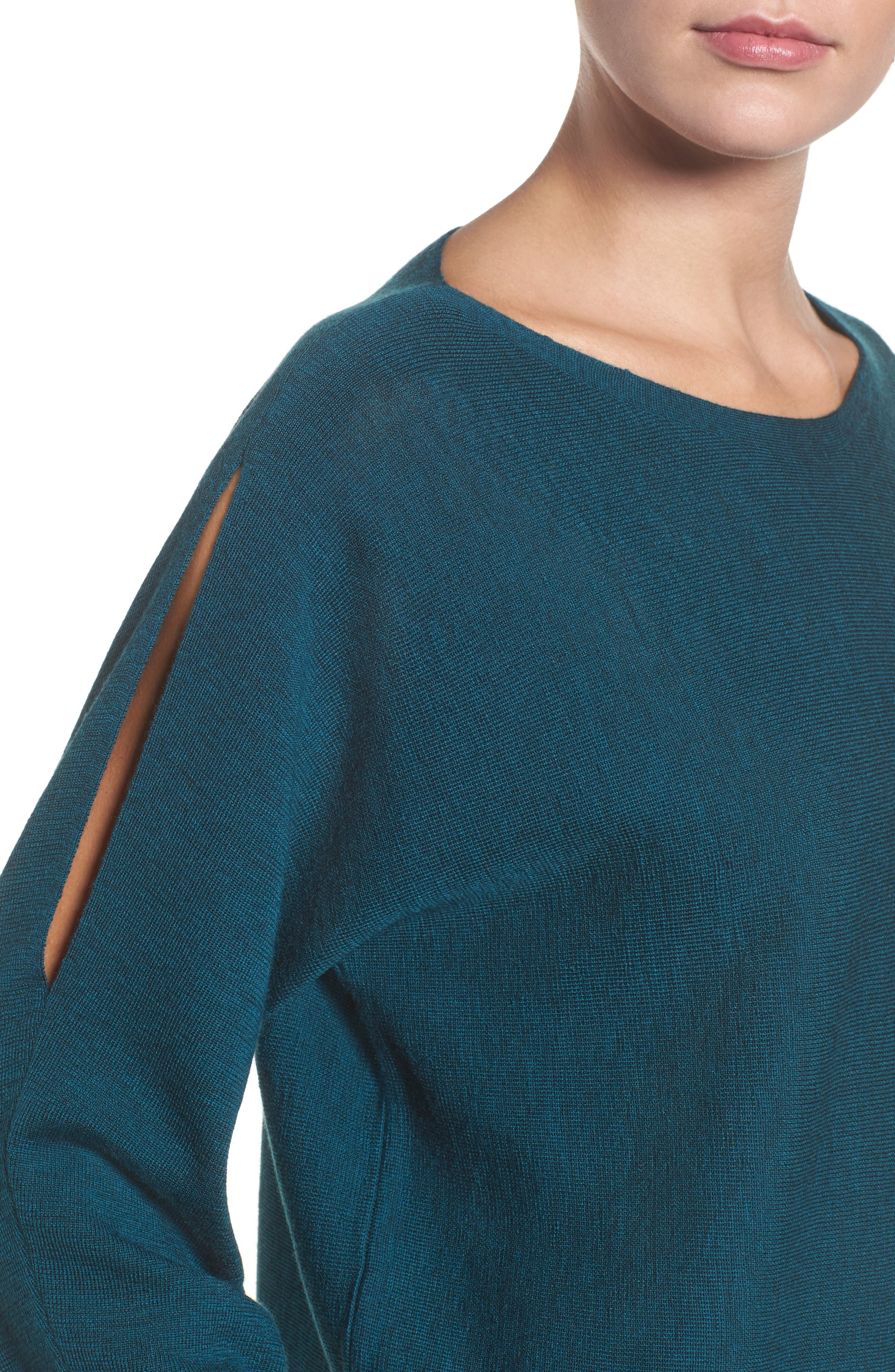 Alternate Image 4  - Eileen Fisher Crop Merino Wool Sweater