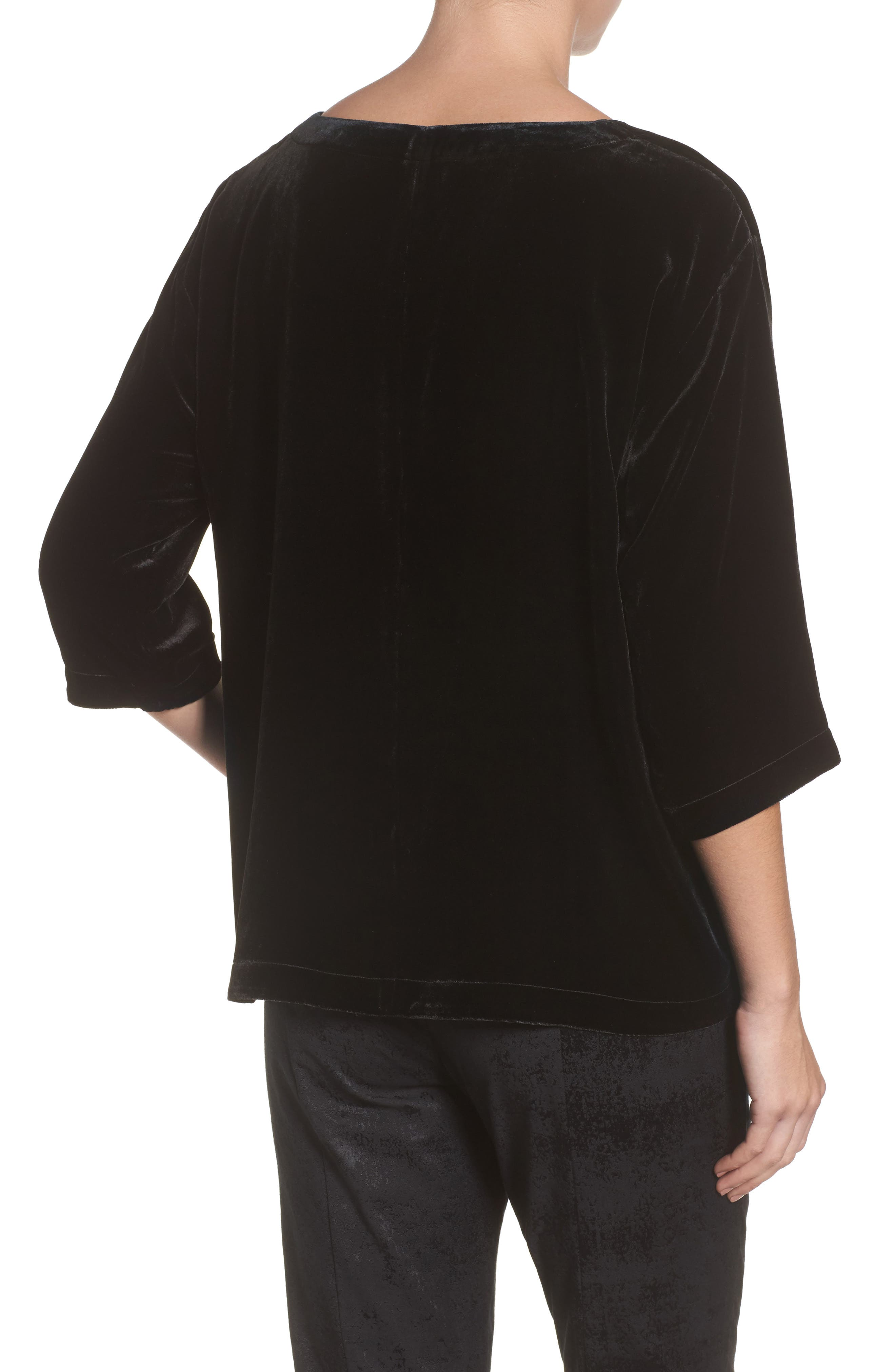 Alternate Image 2  - Eileen Fisher Boxy Velvet Top (Regular & Petite)