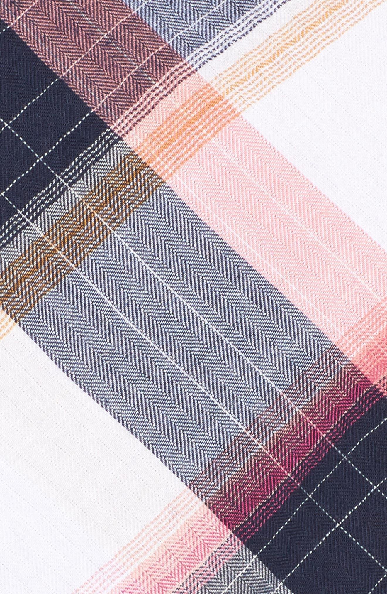 Alternate Image 5  - Caslon® Plaid Peplum Shirt (Plus Size)