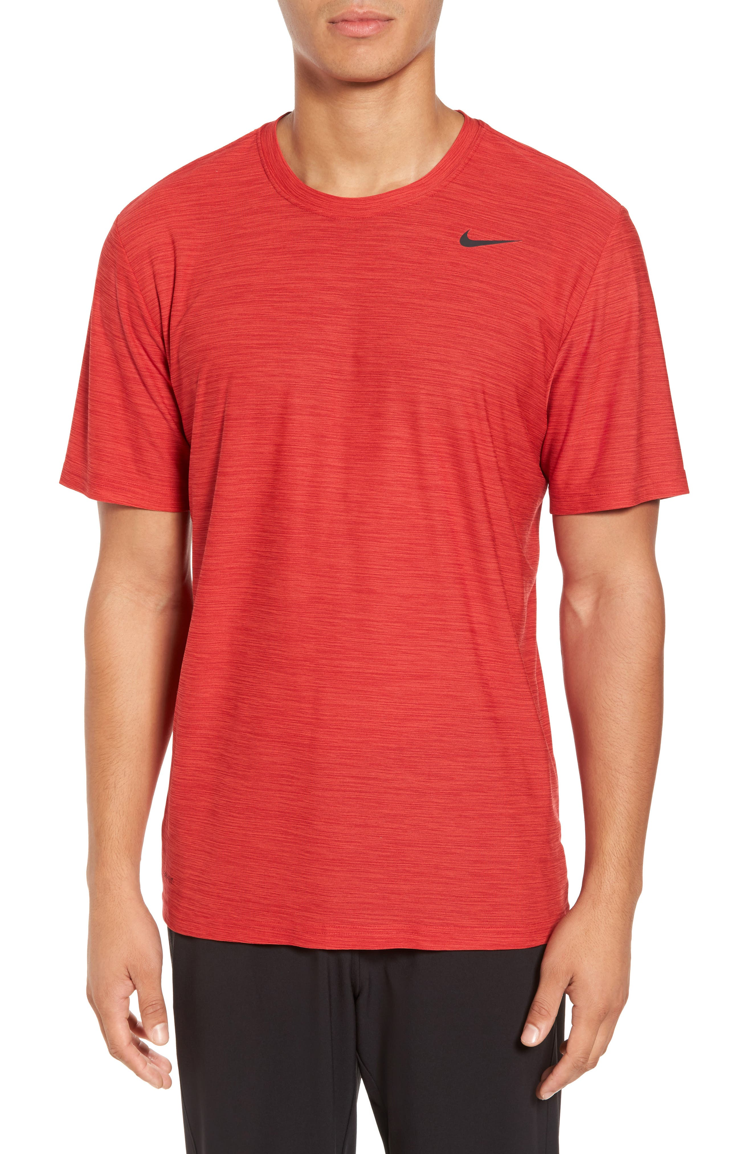 Dry Medalist Running Top,                         Main,                         color, Deep Burgundy/ Habanero Red