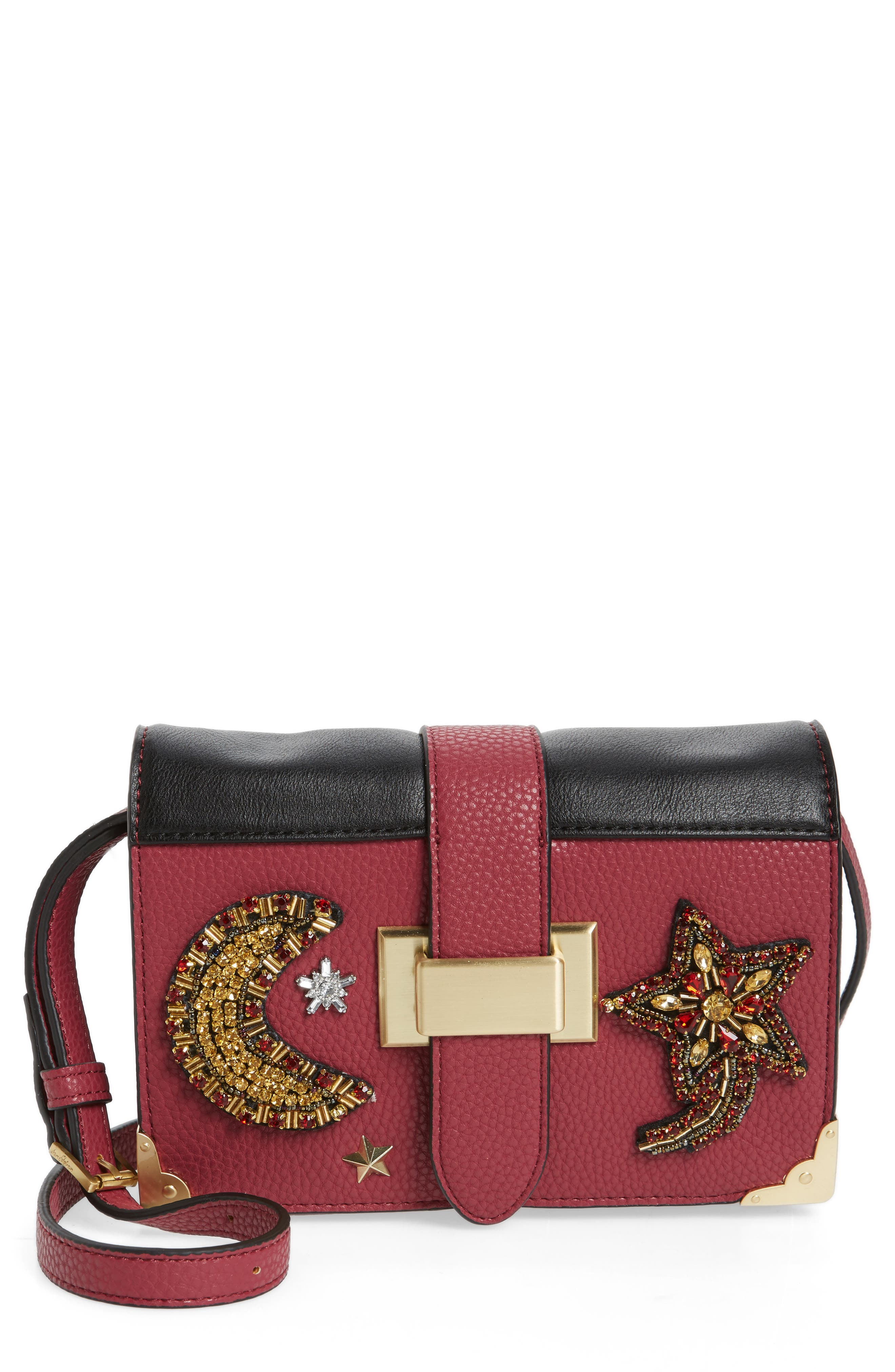 Florence Faux Leather Clutch Wallet,                         Main,                         color, Pink Garnet
