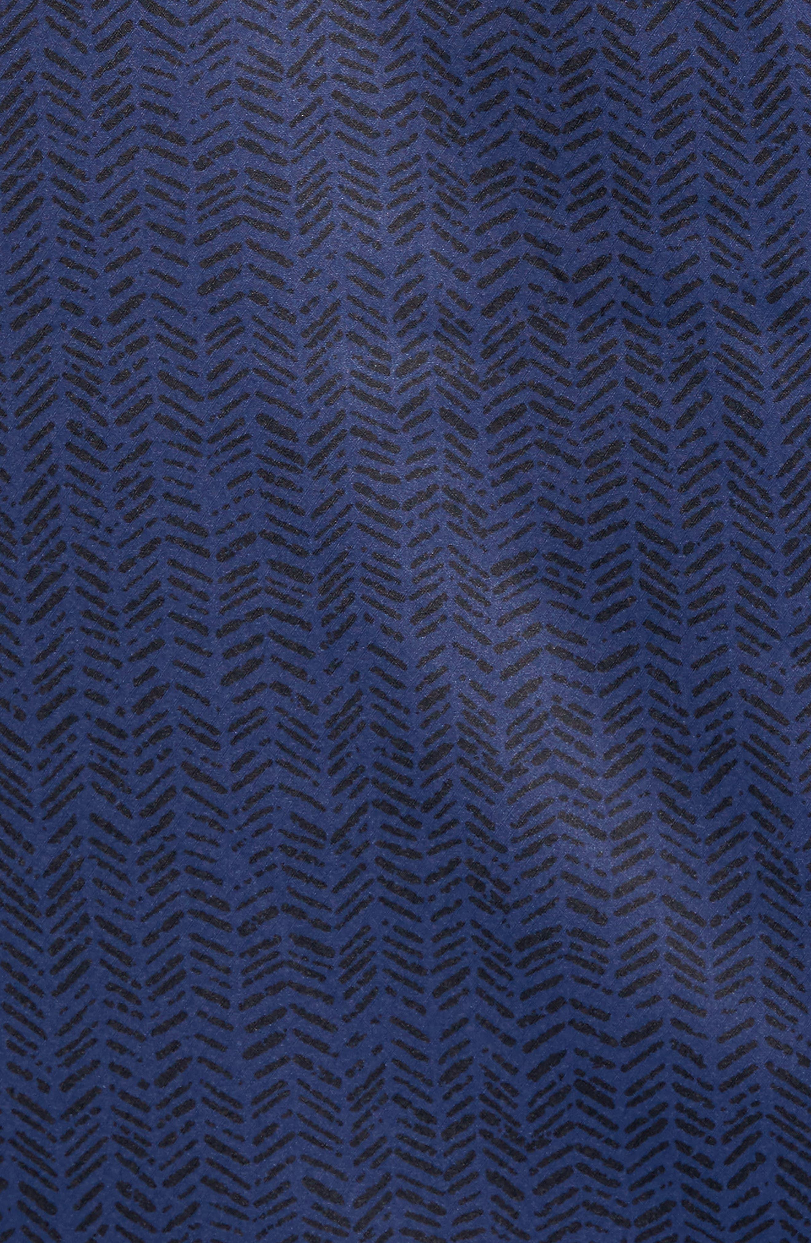 Herringbone Zip-Up Jacket,                             Alternate thumbnail 5, color,                             Navy Blue/ Navy Blue