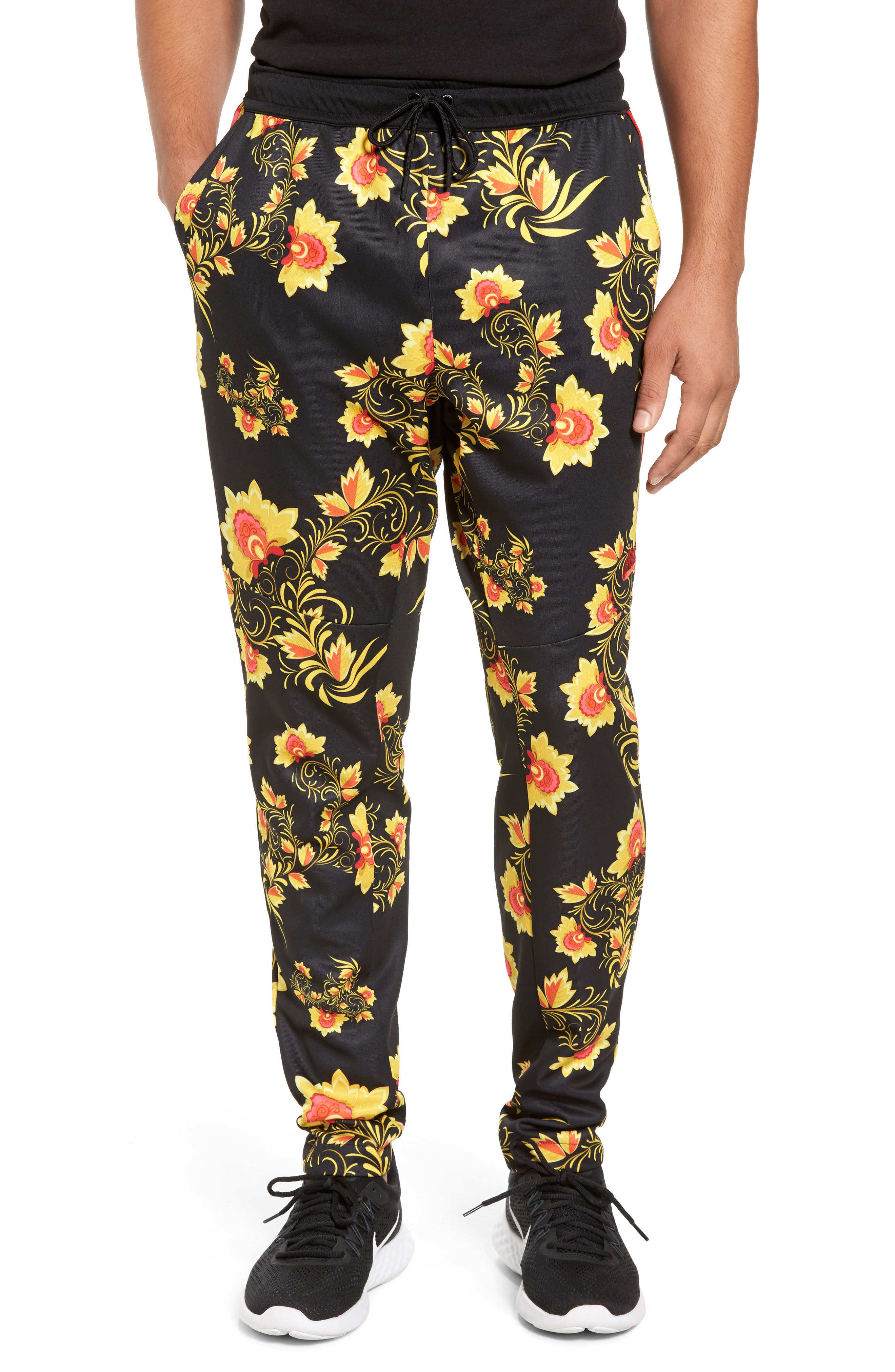 NSW Tribute Jogger Pants,                         Main,                         color, Tour Yellow/ Black/ Red