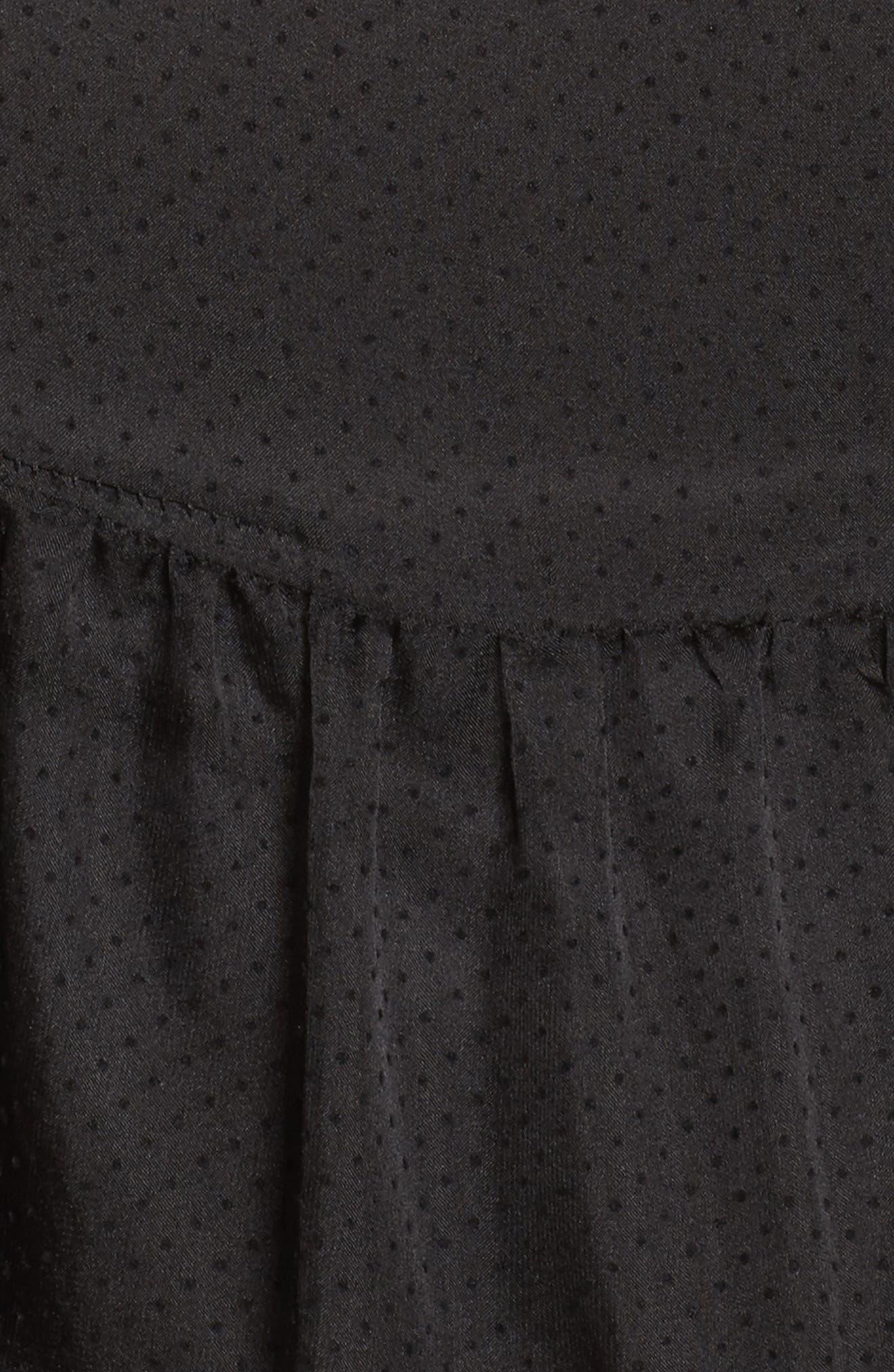 Alternate Image 5  - LOST INK Ruffle Swiss Dot Top (Plus Size)