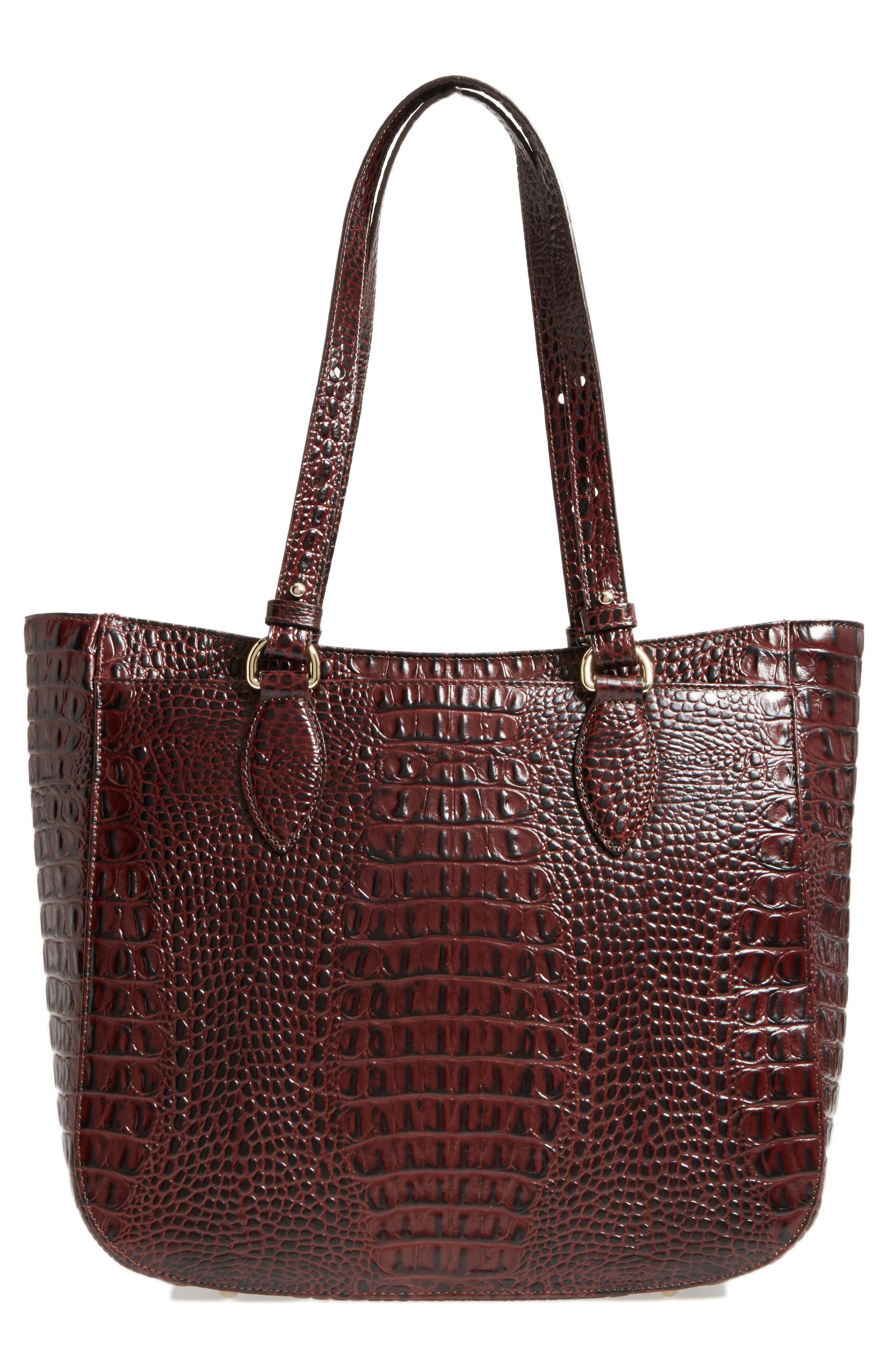 Medium Red Verona - Lena Leather Tote,                             Alternate thumbnail 2, color,                             Red