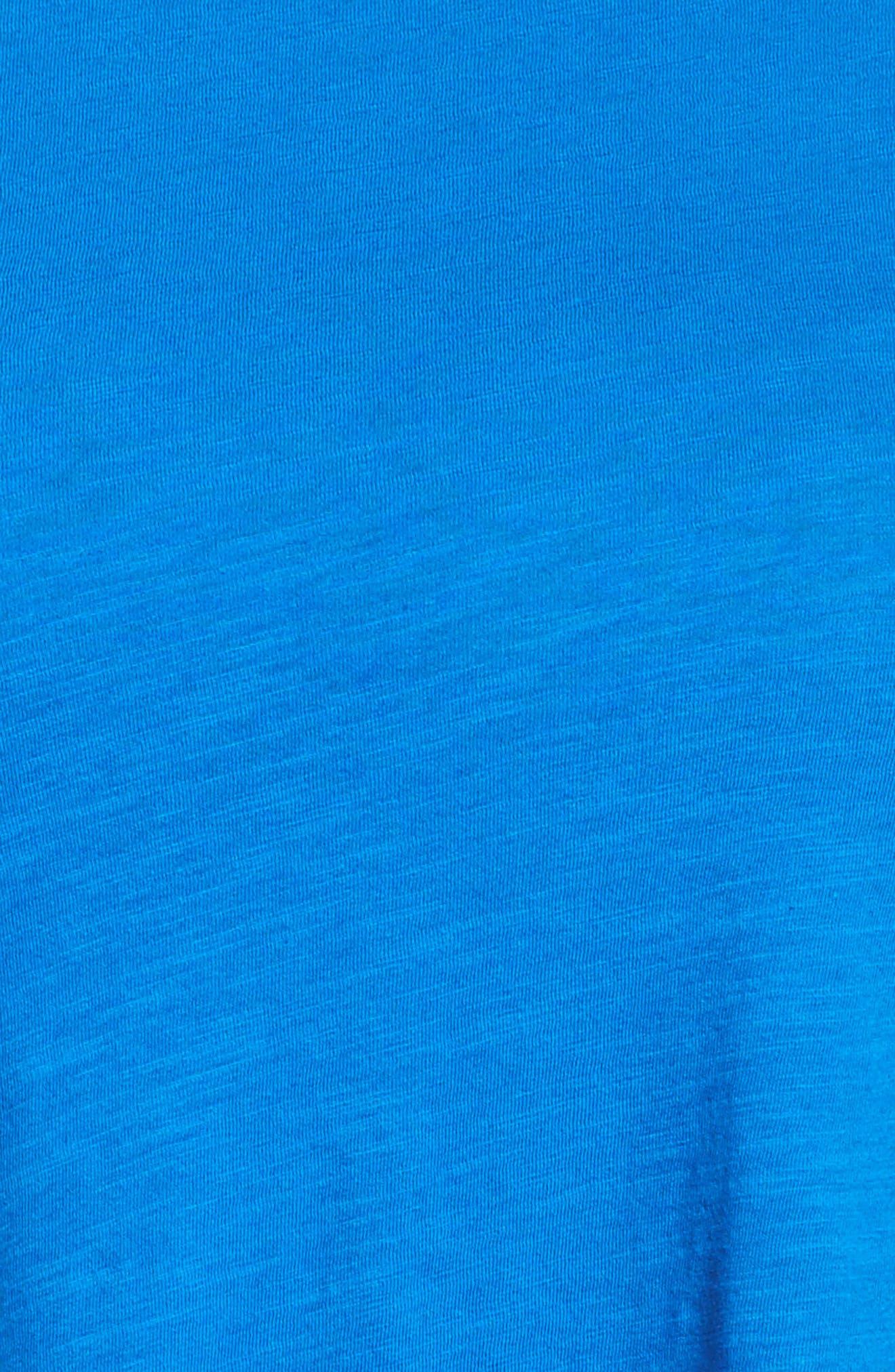 Organic Cotton Jersey Top,                             Alternate thumbnail 5, color,                             Blue