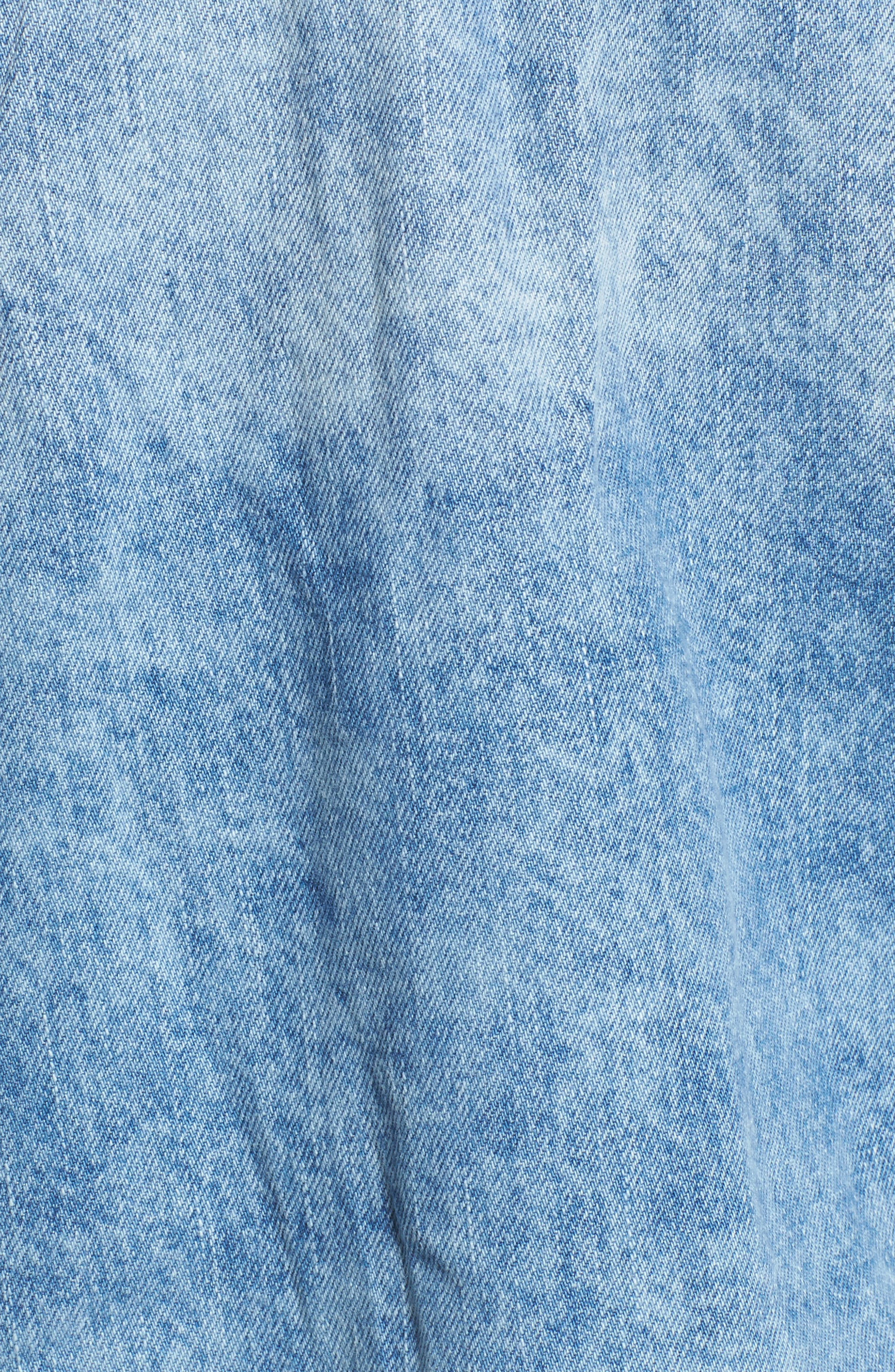 Star & Stud Denim Jacket,                             Alternate thumbnail 5, color,                             Blue