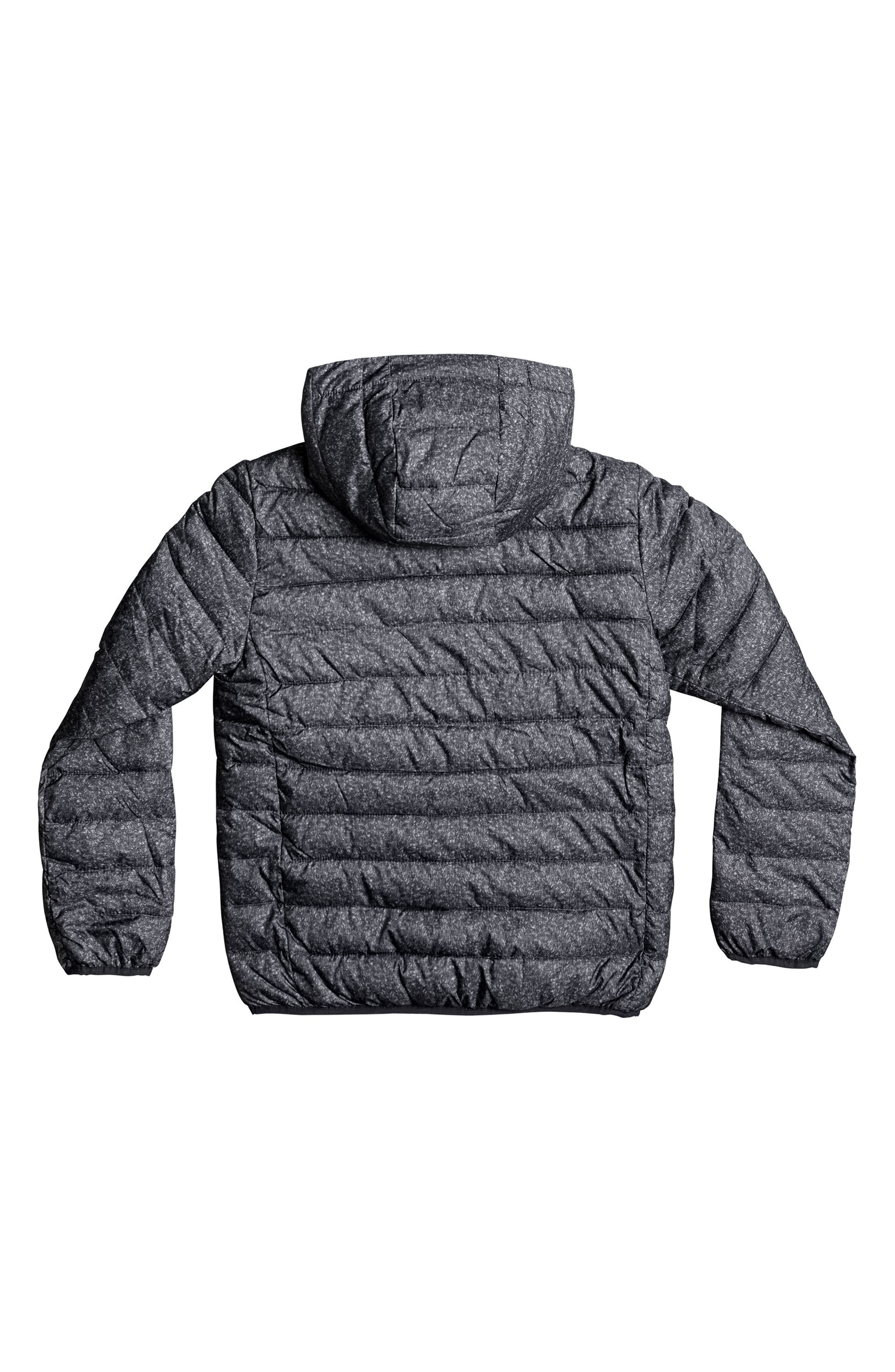 Scaly Water Resistant Hooded Puffer Jacket,                             Alternate thumbnail 2, color,                             Dark Grey Heather Scaly