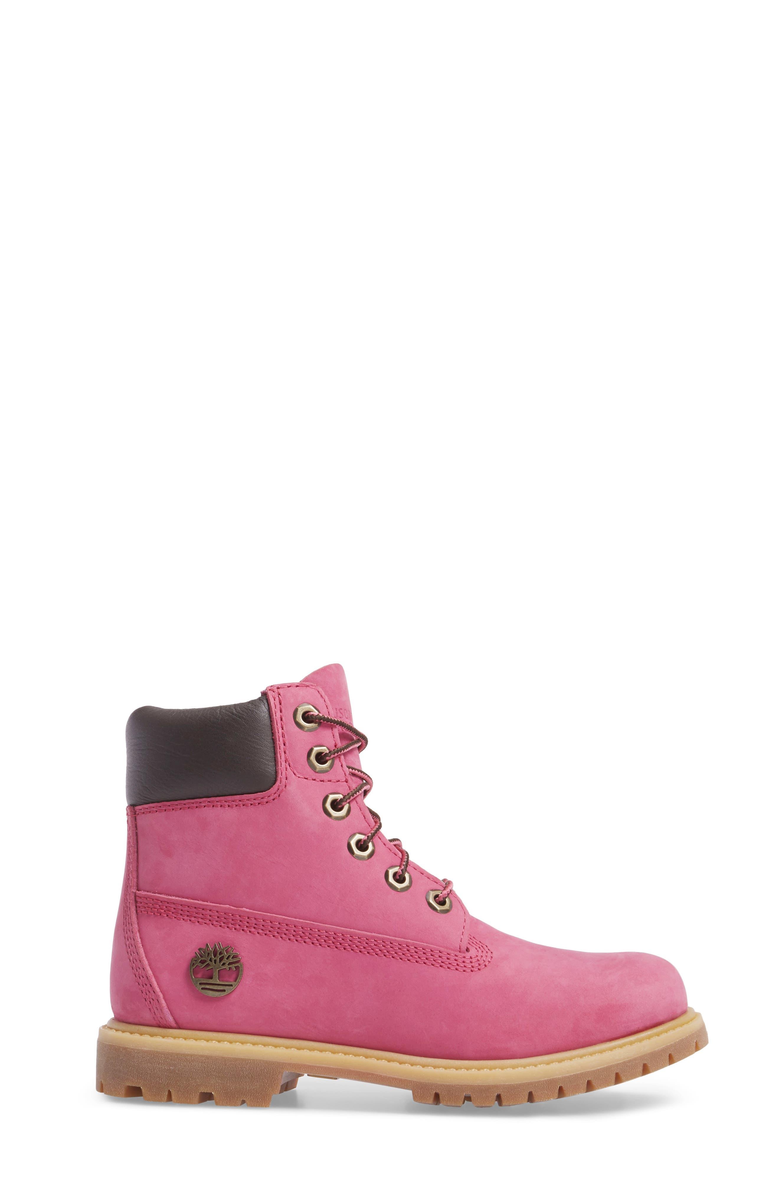x Susan G. Komen 6-Inch Waterproof Insulated Boot,                             Alternate thumbnail 3, color,                             Bright Pink Nubuck