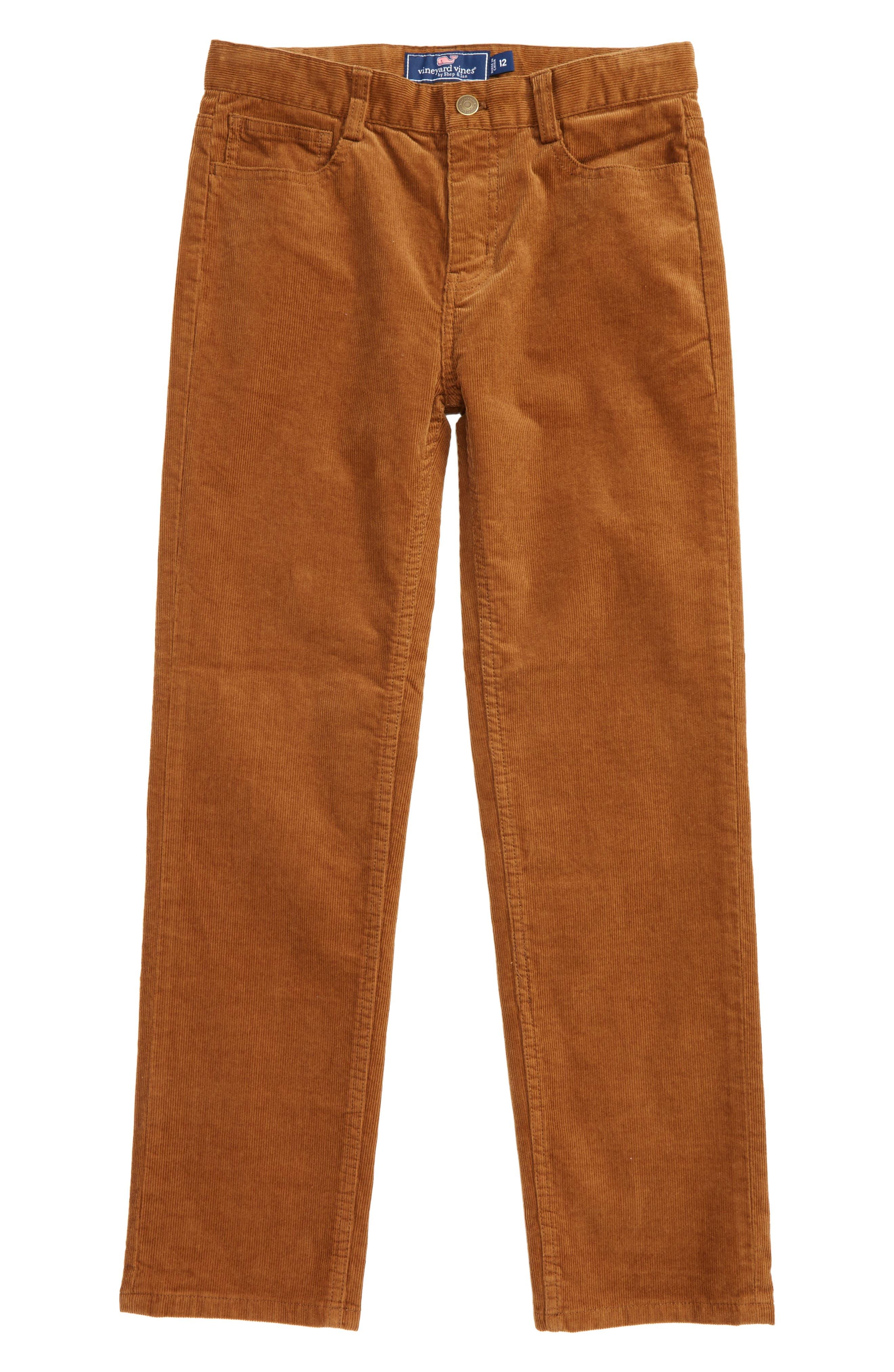 Alternate Image 1 Selected - vineyard vines Straight Leg Corduroy Pants (Big Boys)