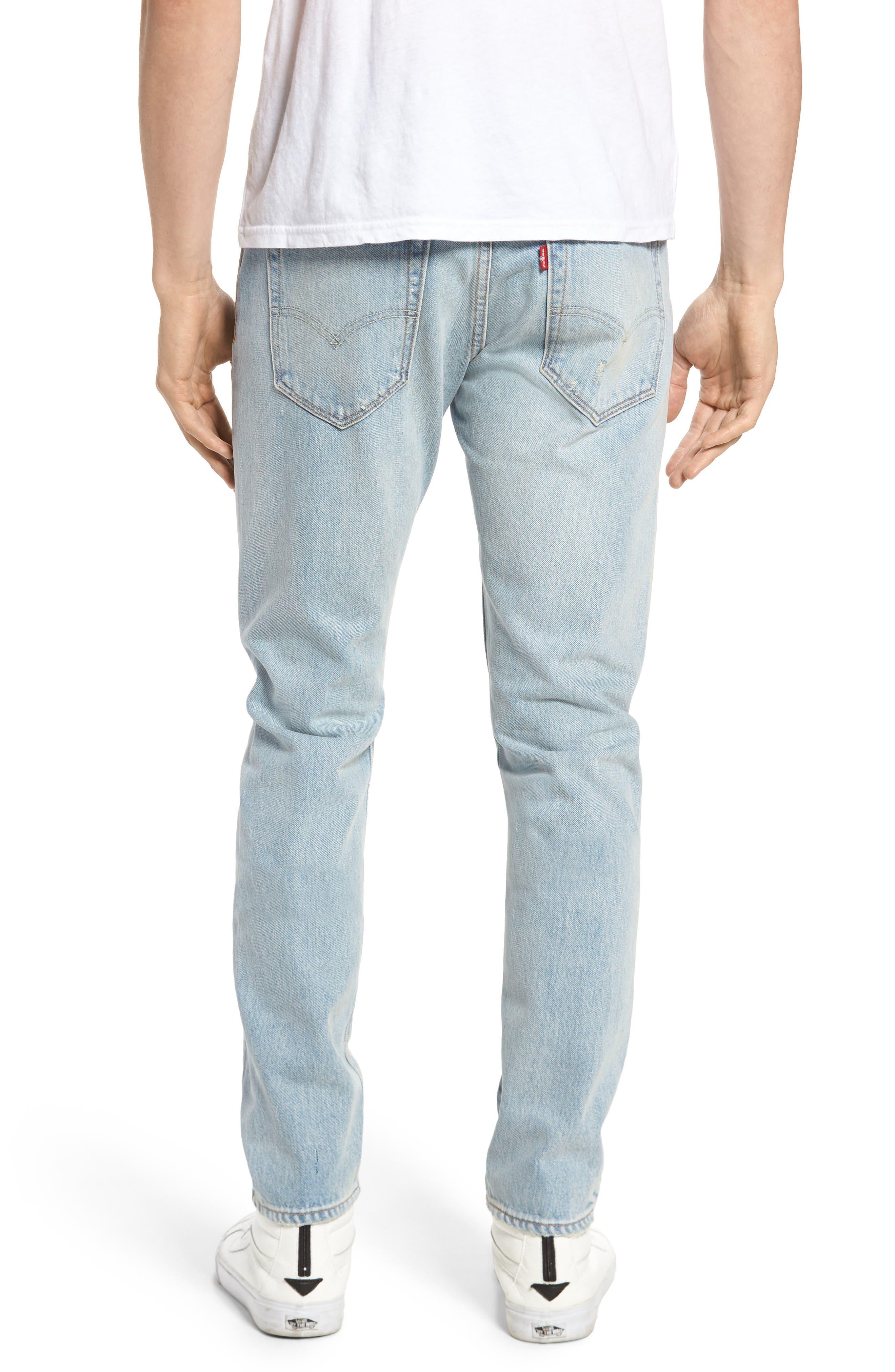 Alternate Image 2  - Levi's® 512™ Skinny Fit Crop Jeans (Medium Blue Surf Ave)