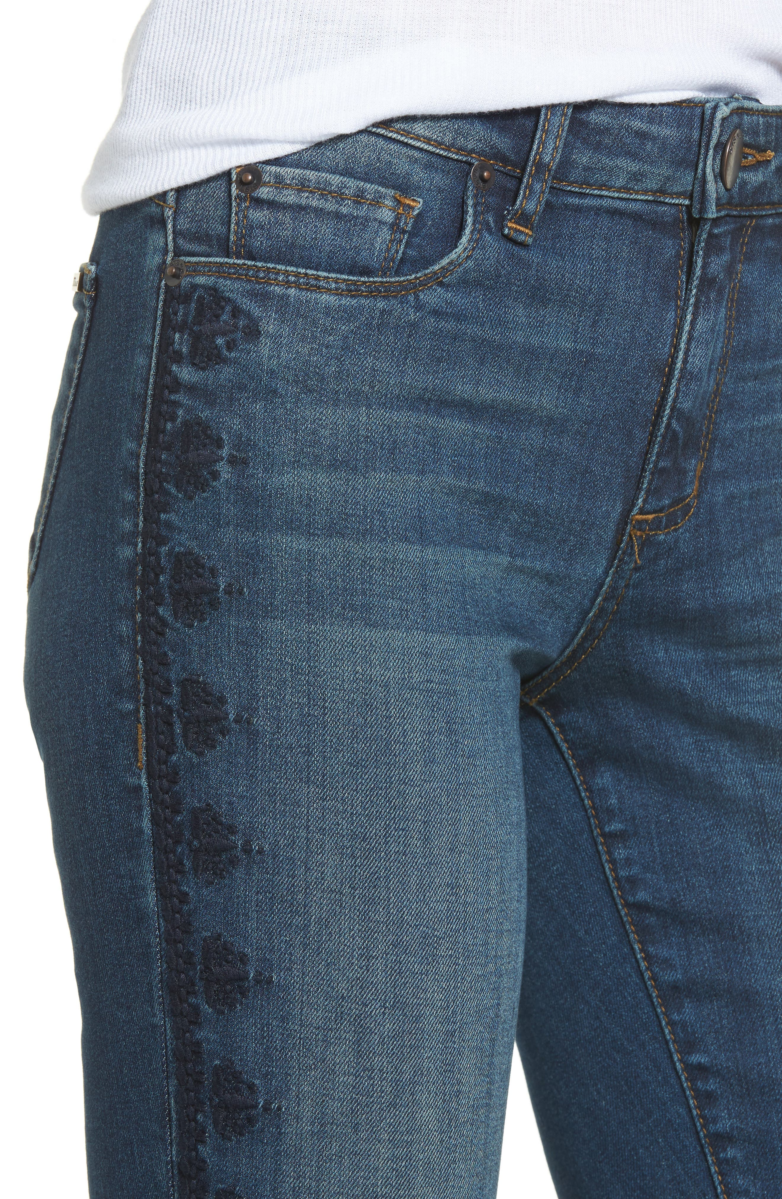 Alternate Image 4  - STS Blue Emma Embroidered Skinny Ankle Jeans (Lindbrook)