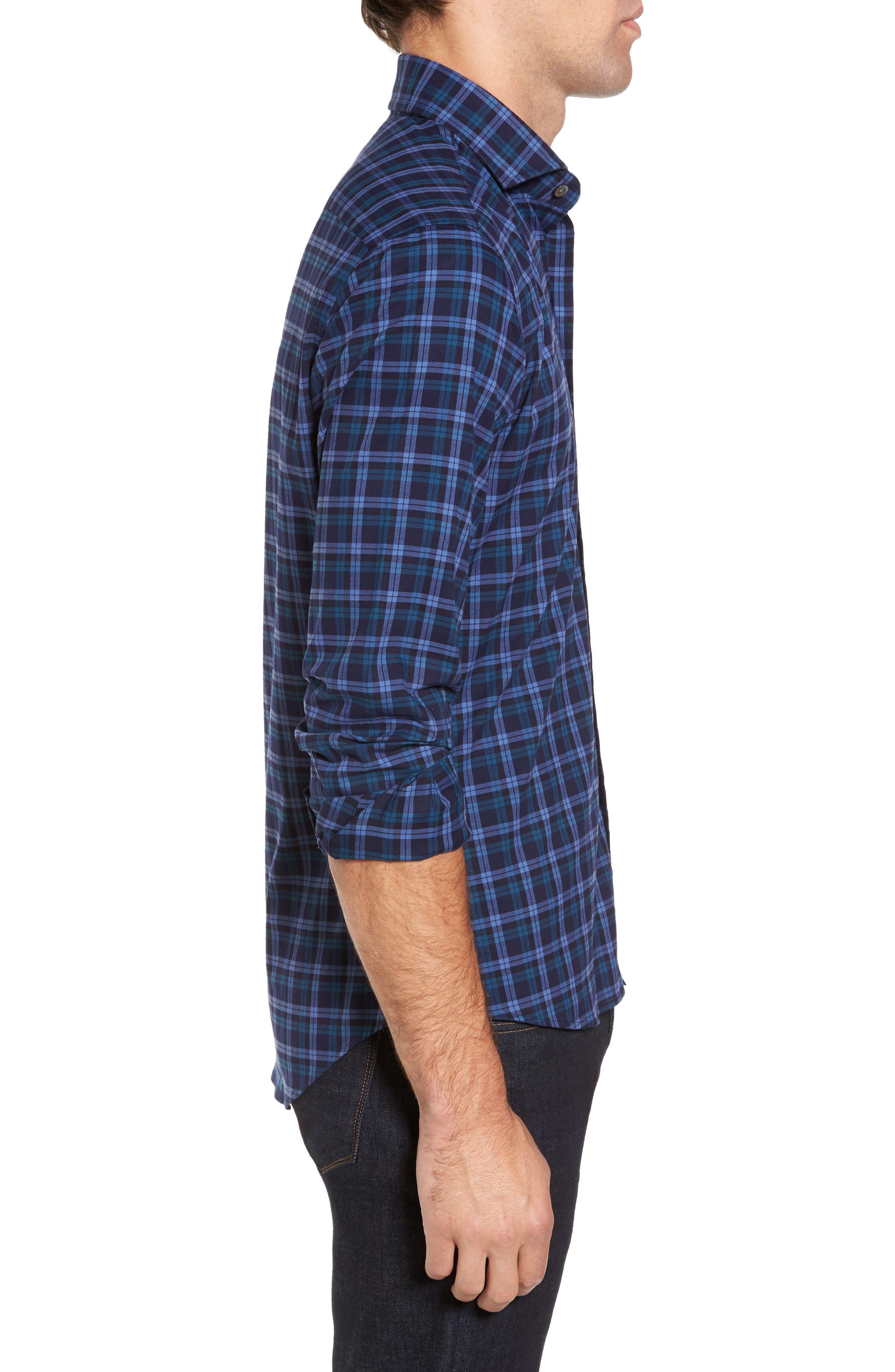 Alternate Image 3  - Ledbury The Blue Goode Slim Fit Plaid Sport Shirt