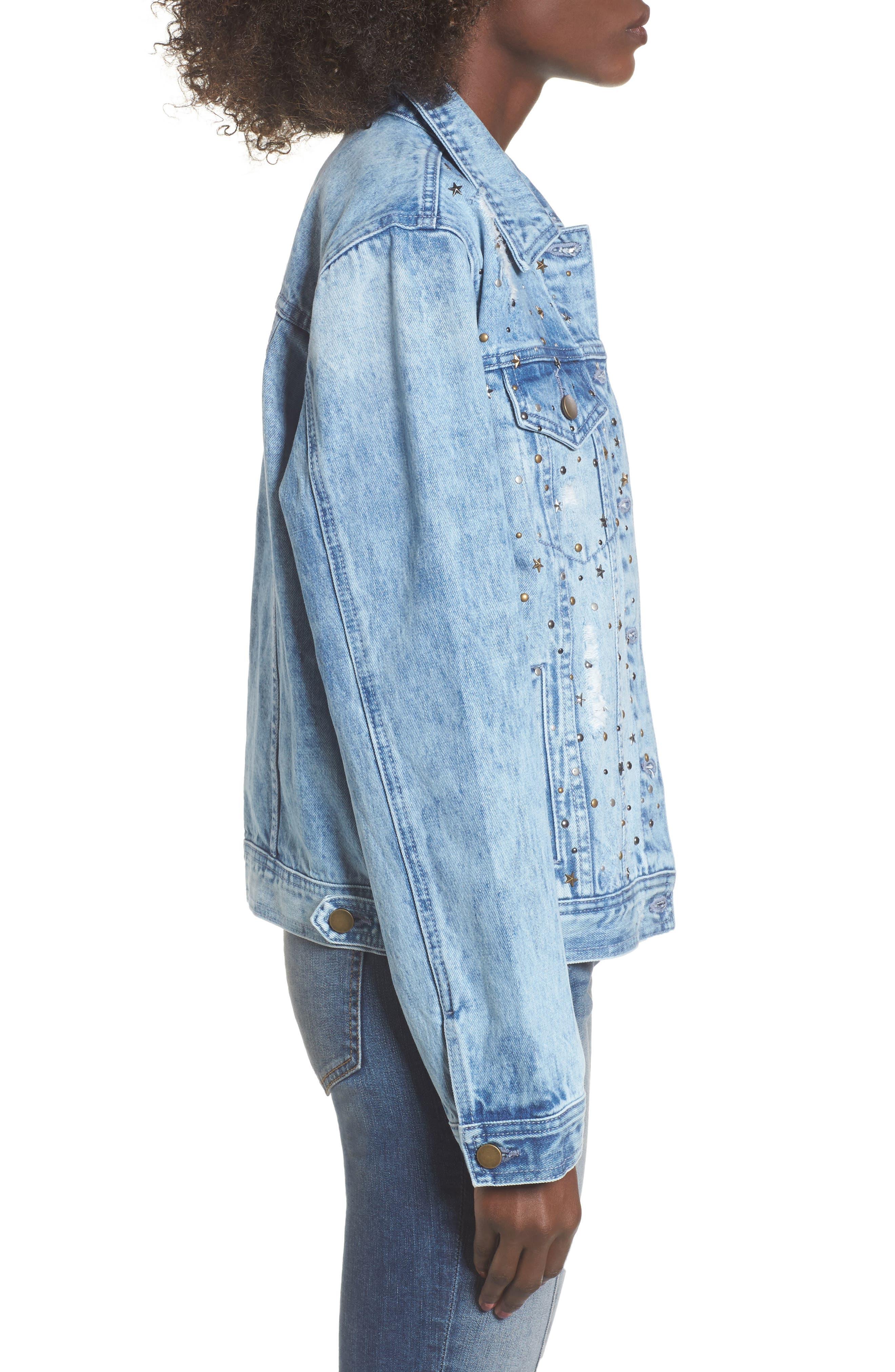 Alternate Image 3  - Tinsel Star & Stud Denim Jacket