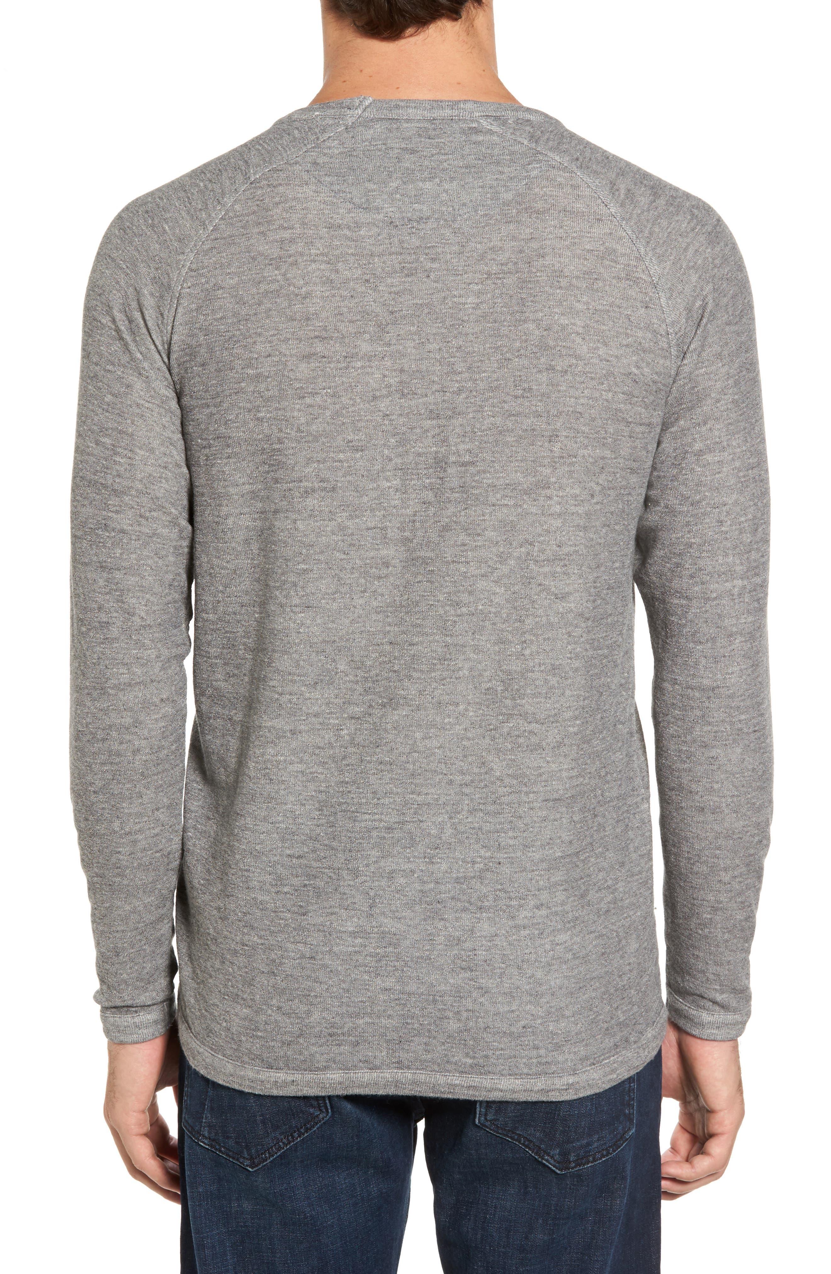 Jensen Double Cloth Crewneck Shirt,                             Alternate thumbnail 2, color,                             Grey