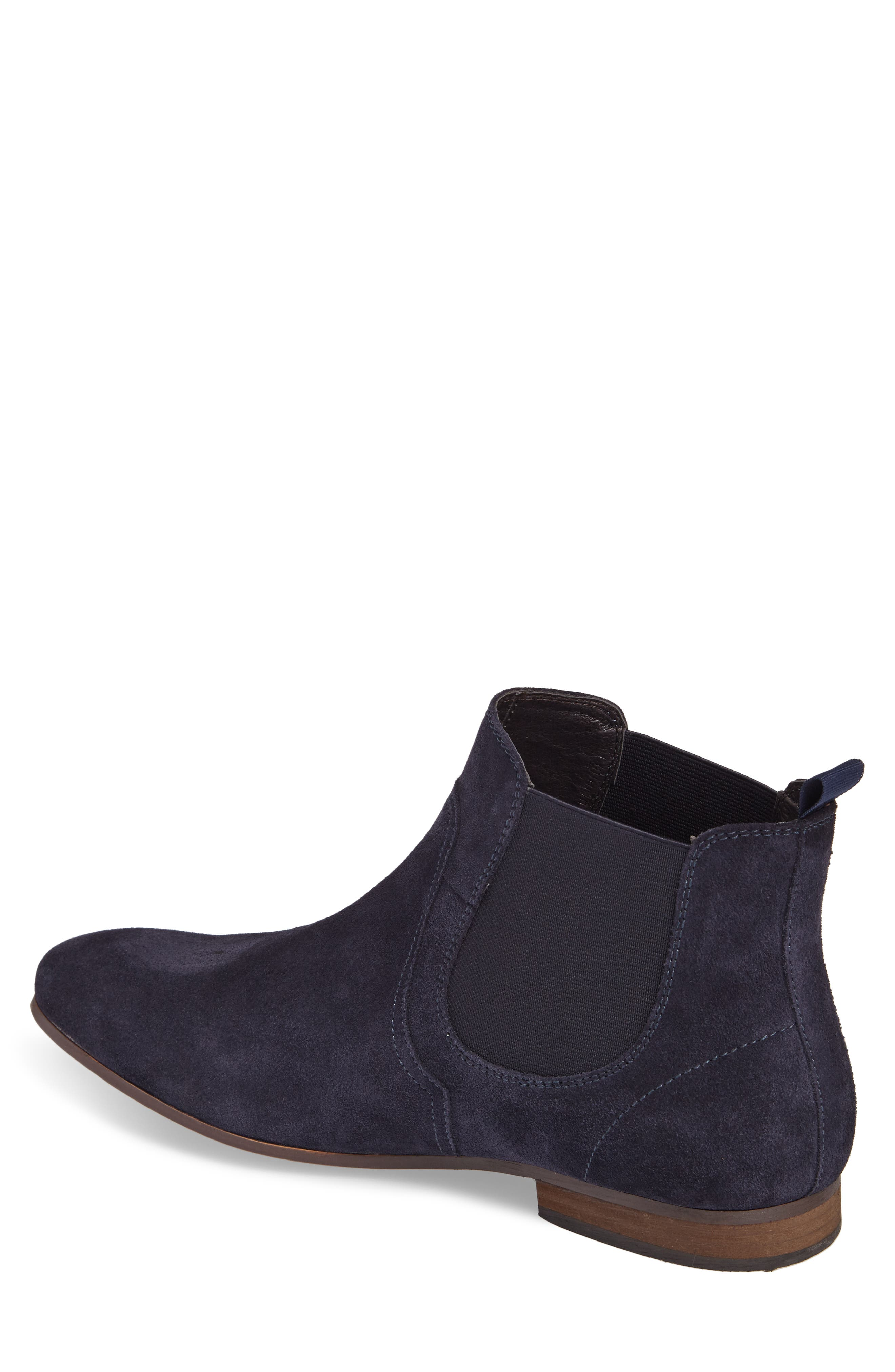 Brysen Chelsea Boot,                             Alternate thumbnail 2, color,                             Blue Suede