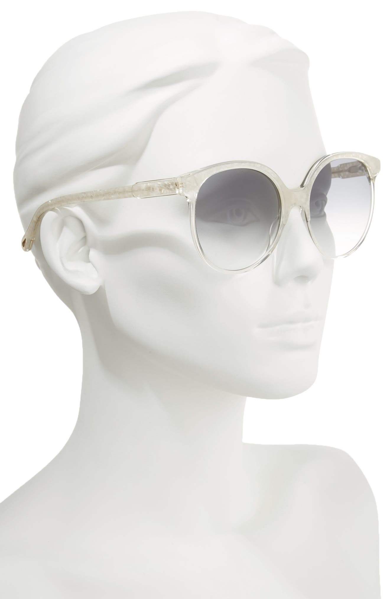 59mm Round Sunglasses,                             Alternate thumbnail 2, color,                             Pearl/ Champagne