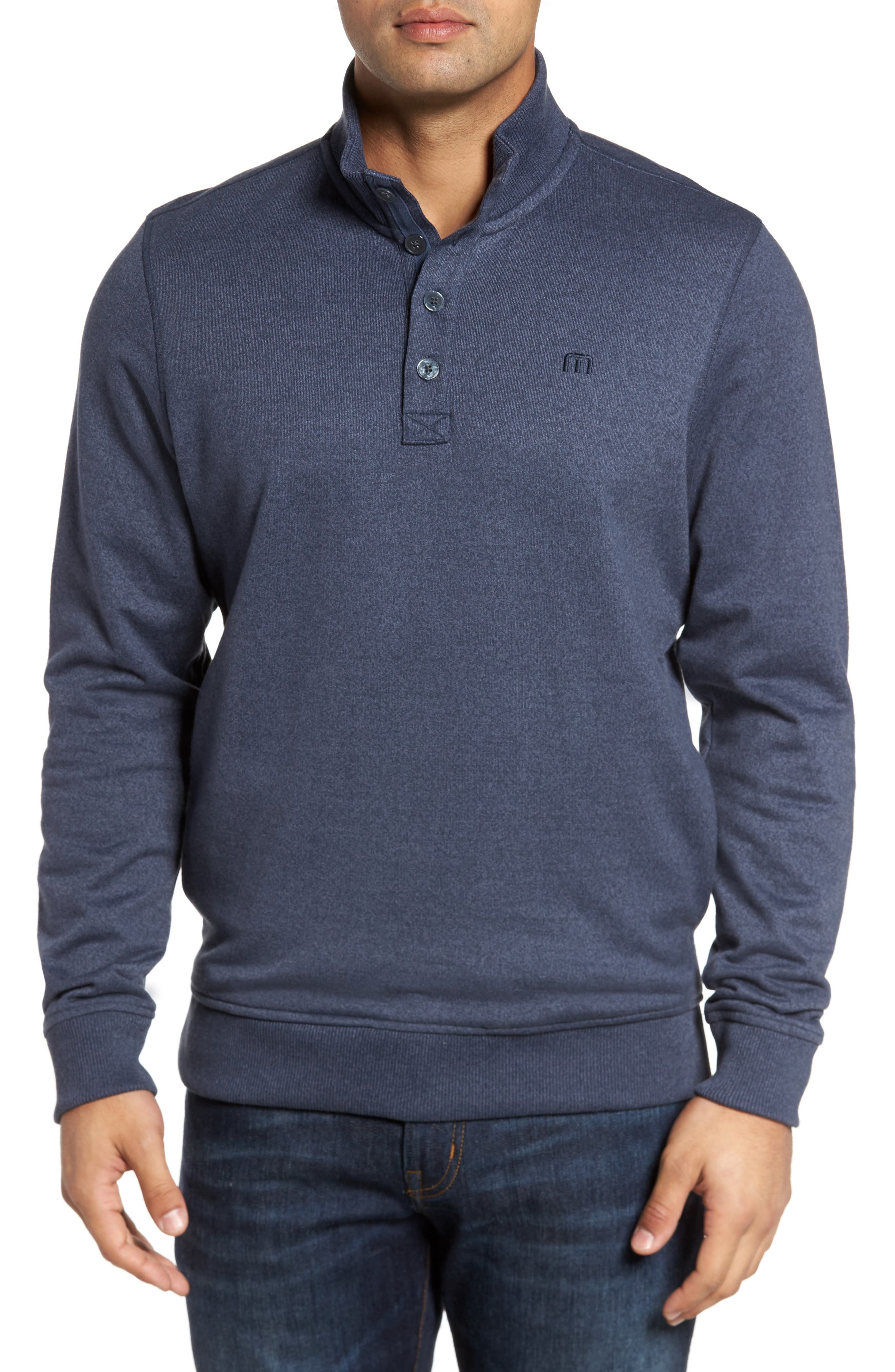 Travis Mathew 'Wall' Mock Neck Pullover
