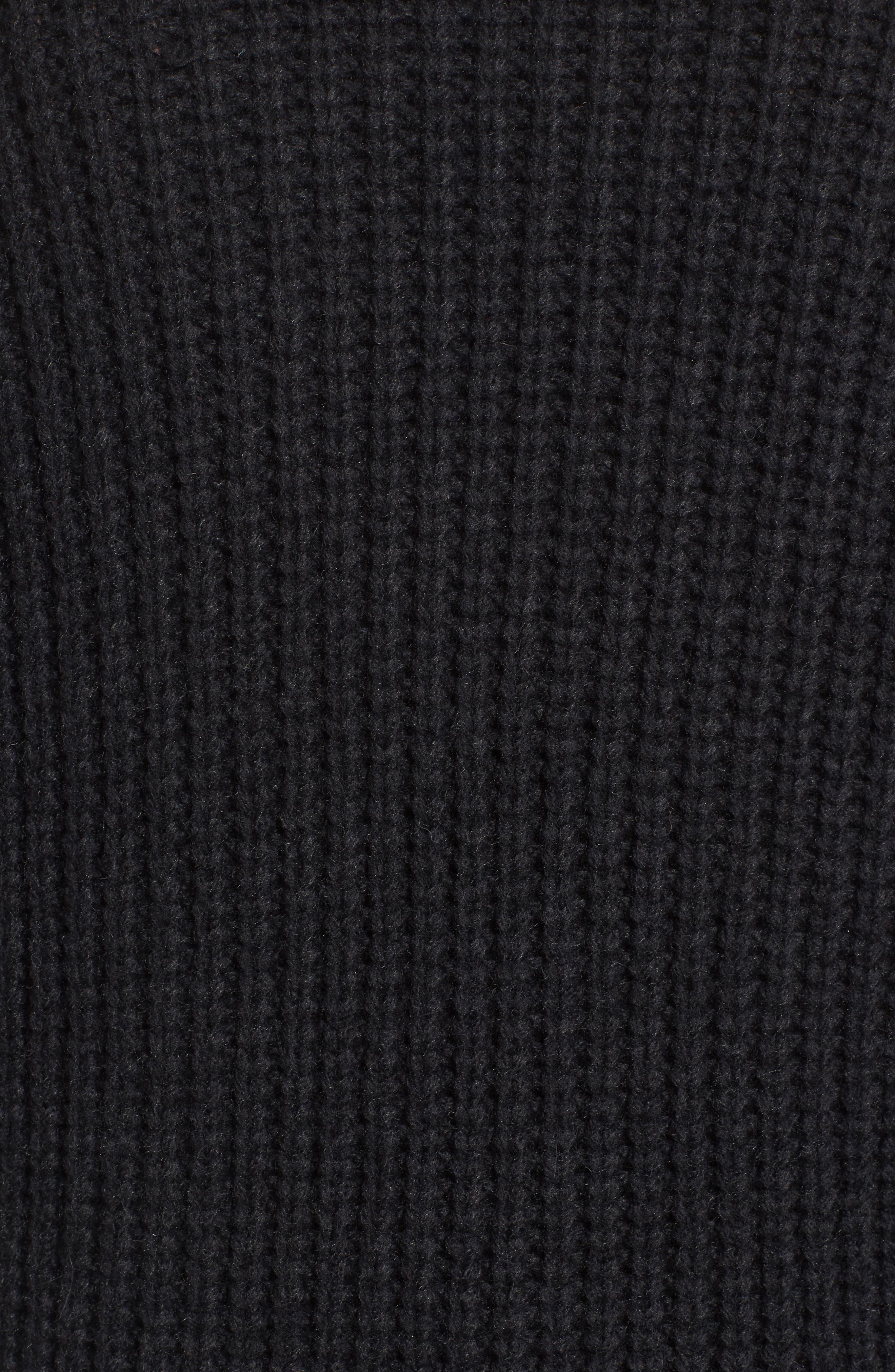 Textured Button Cardigan,                             Alternate thumbnail 5, color,                             Coal