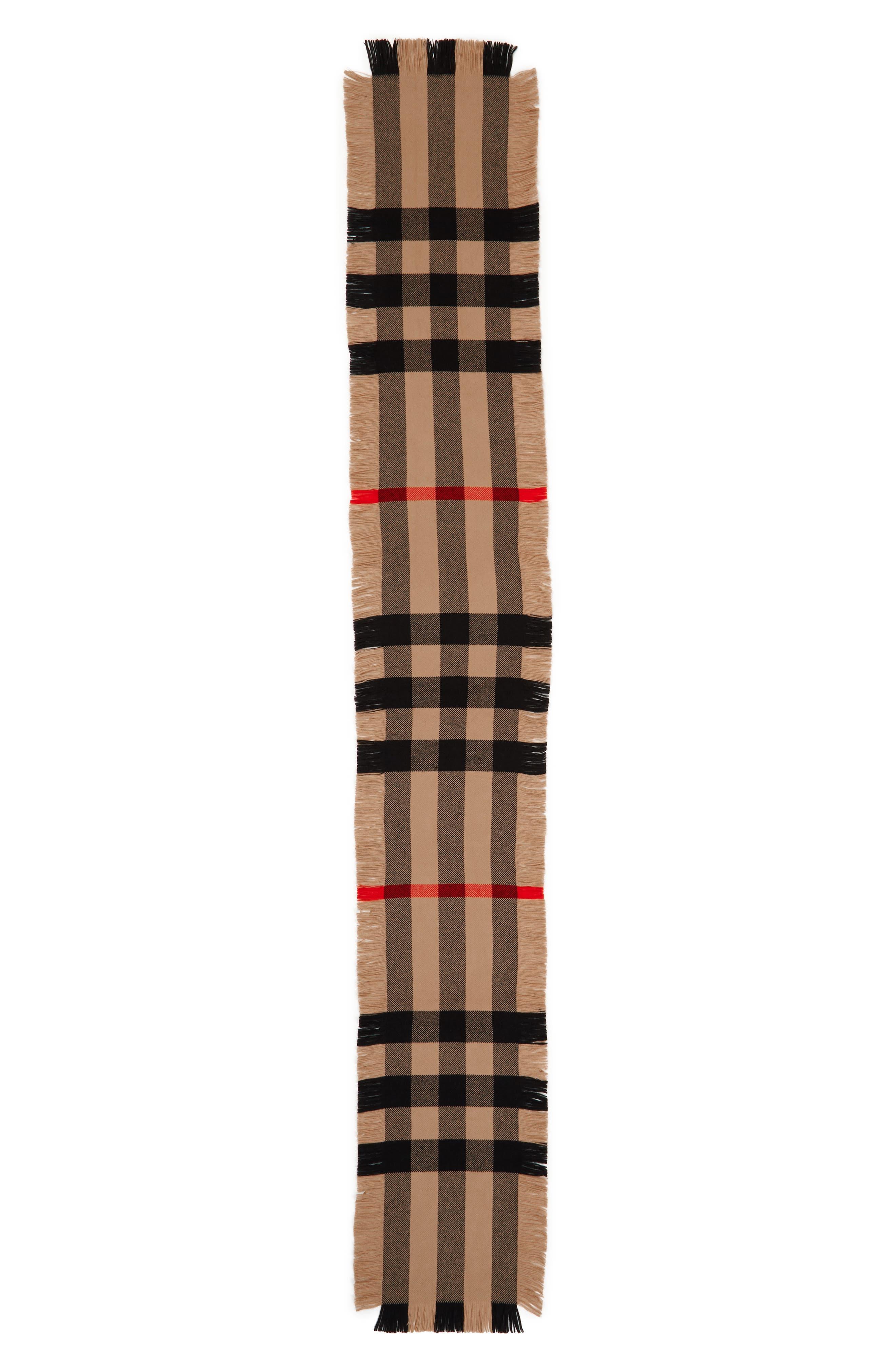 Half Mega Fashion Wool Fringe Scarf,                             Alternate thumbnail 2, color,                             Camel
