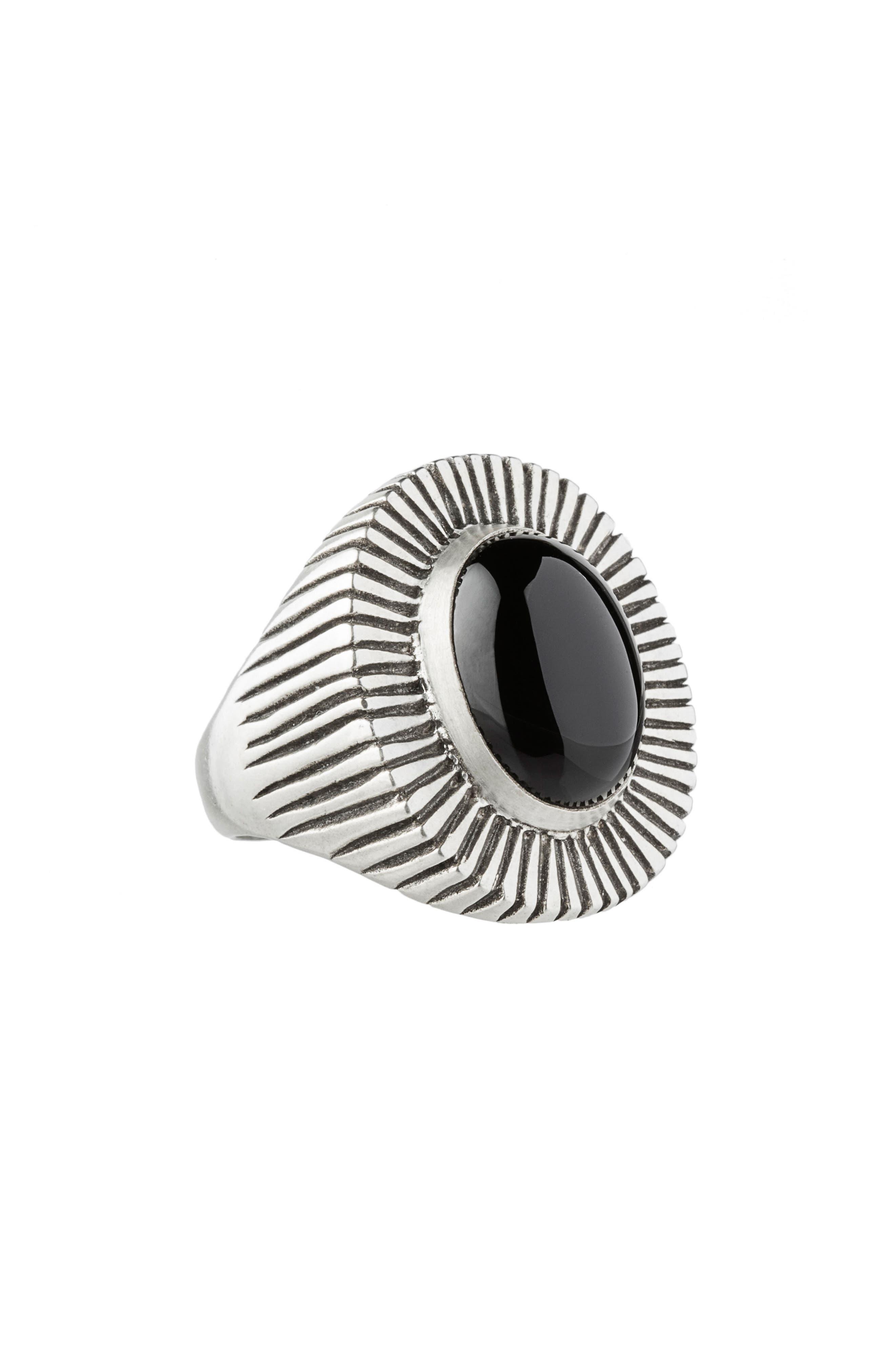 Byron Onyx Ring,                         Main,                         color, Black