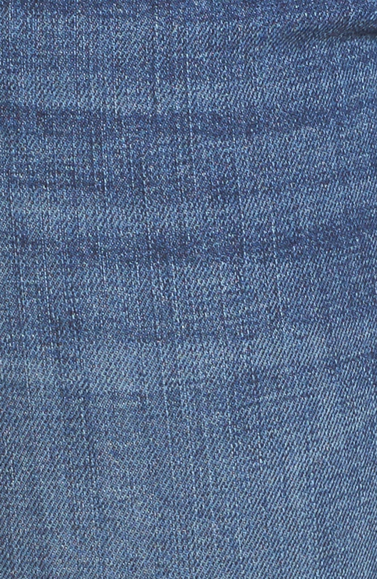 Maternity Skinny Jeans,                             Alternate thumbnail 5, color,                             Juliet Wash