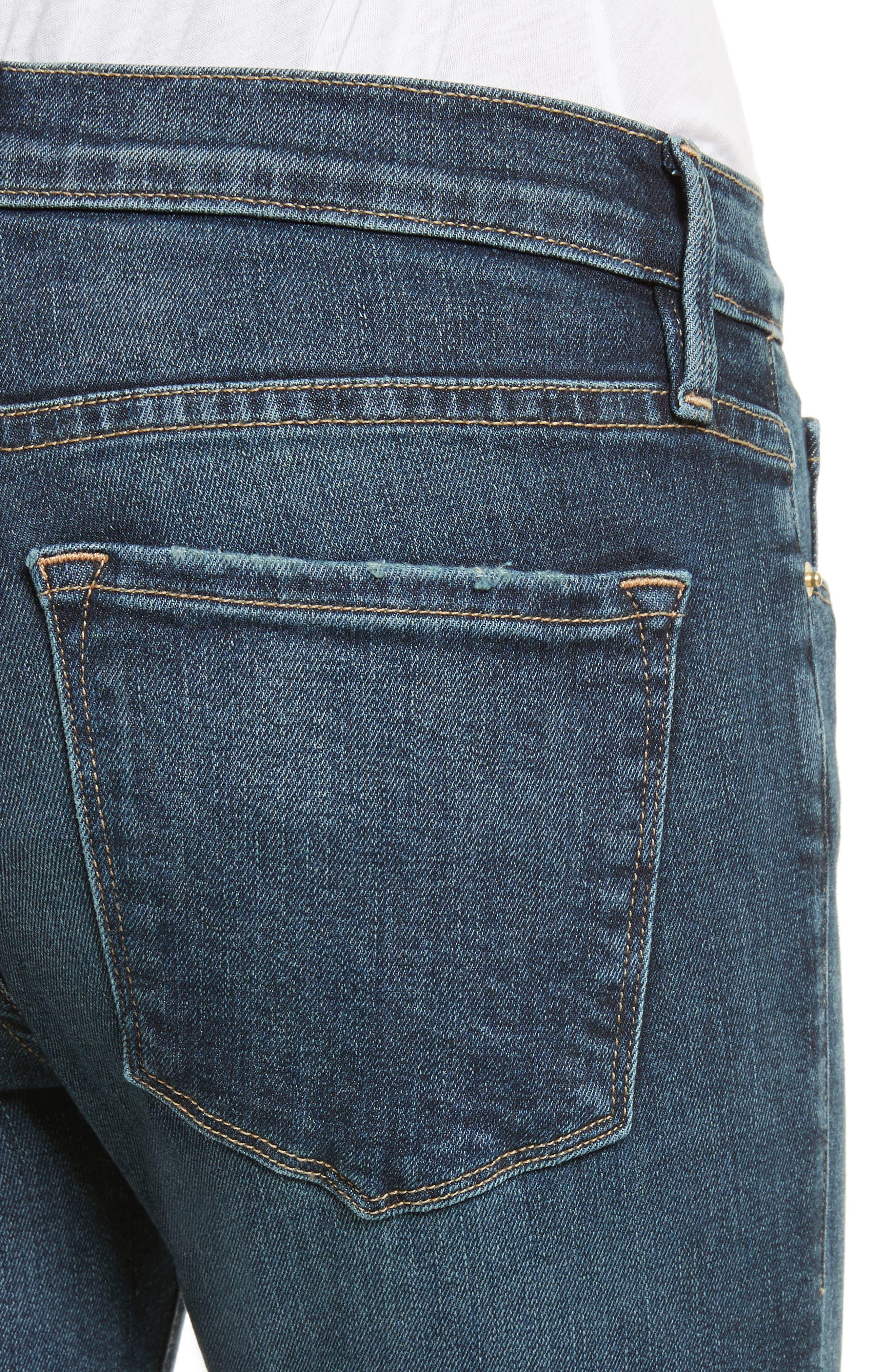 Alternate Image 4  - FRAME Le Skinny de Jeanne Skinny Jeans (Astell)
