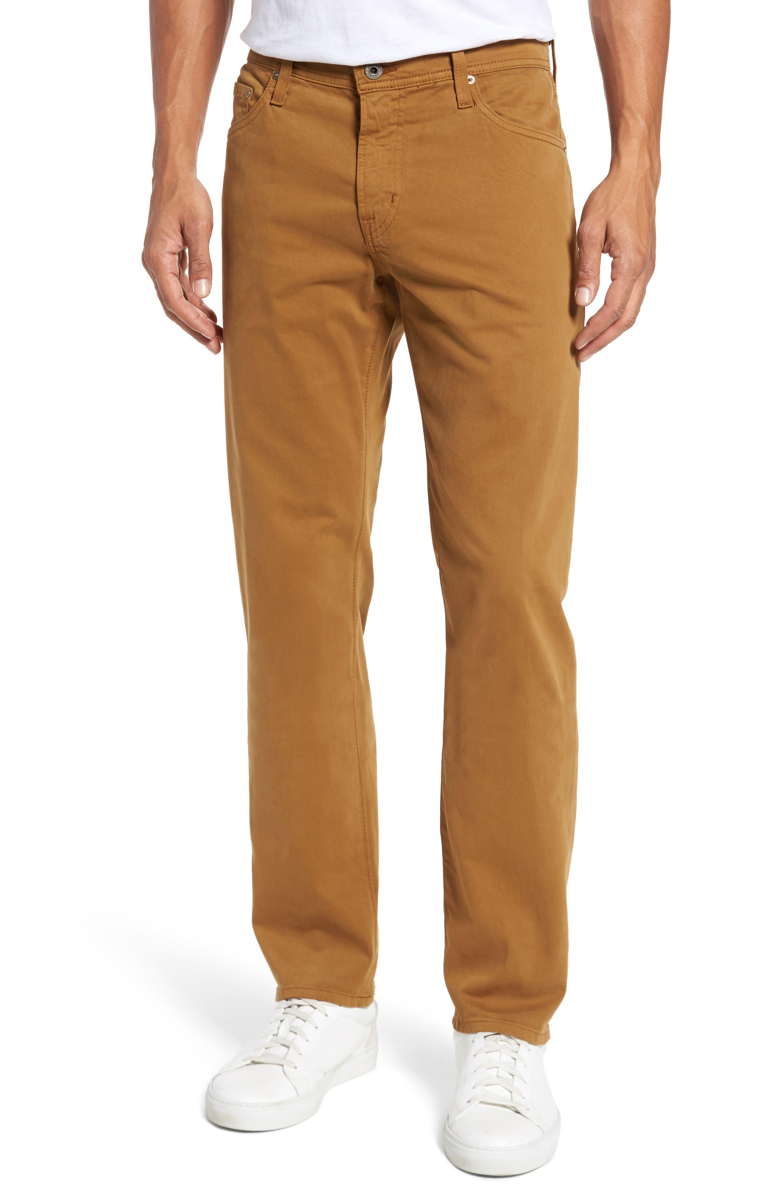 Graduate SUD Slim Straight Leg Pants,                             Main thumbnail 1, color,                             Burnt Saffron (Bfn)