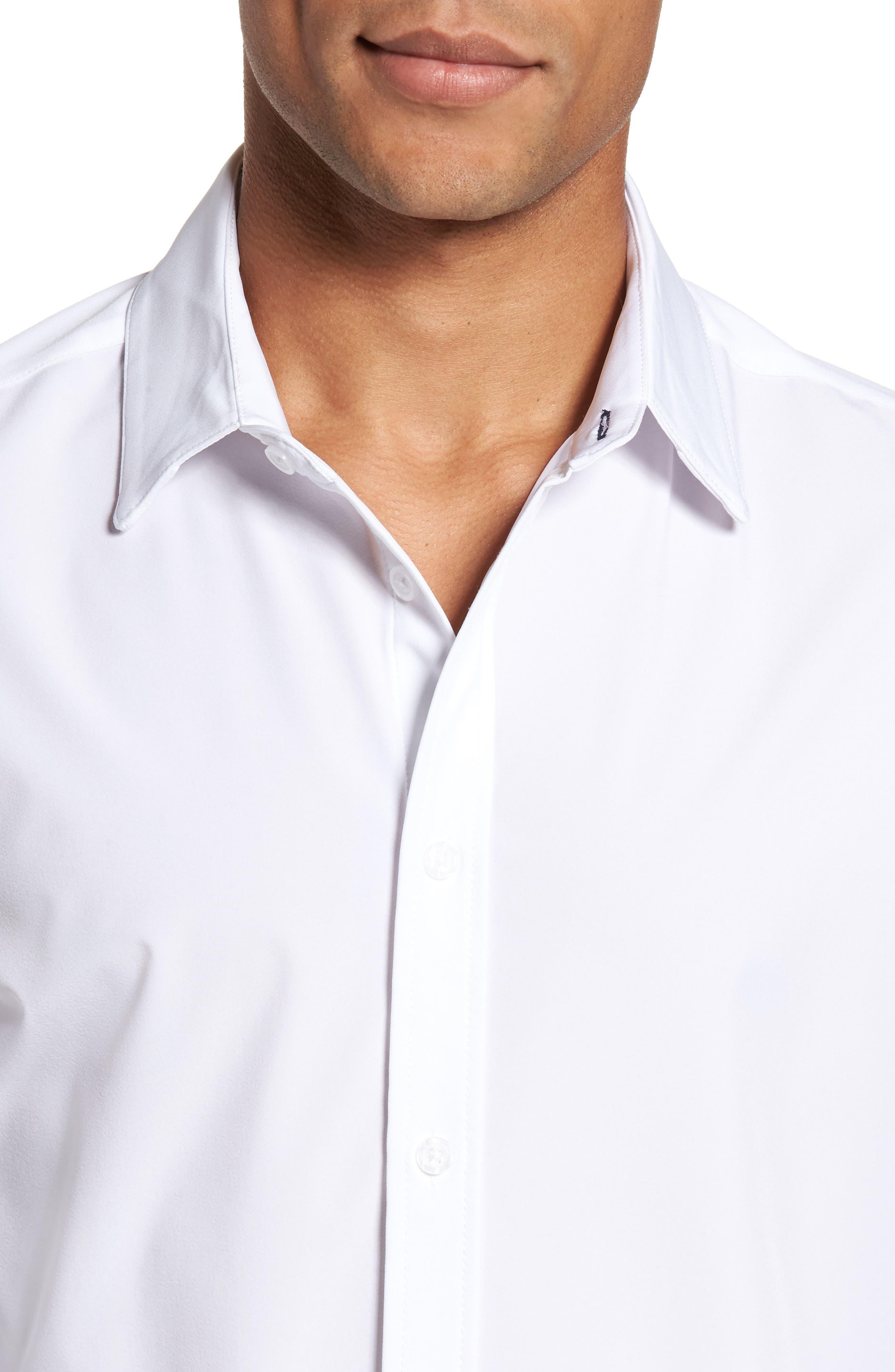 Stockton Sport Shirt,                             Alternate thumbnail 2, color,                             White