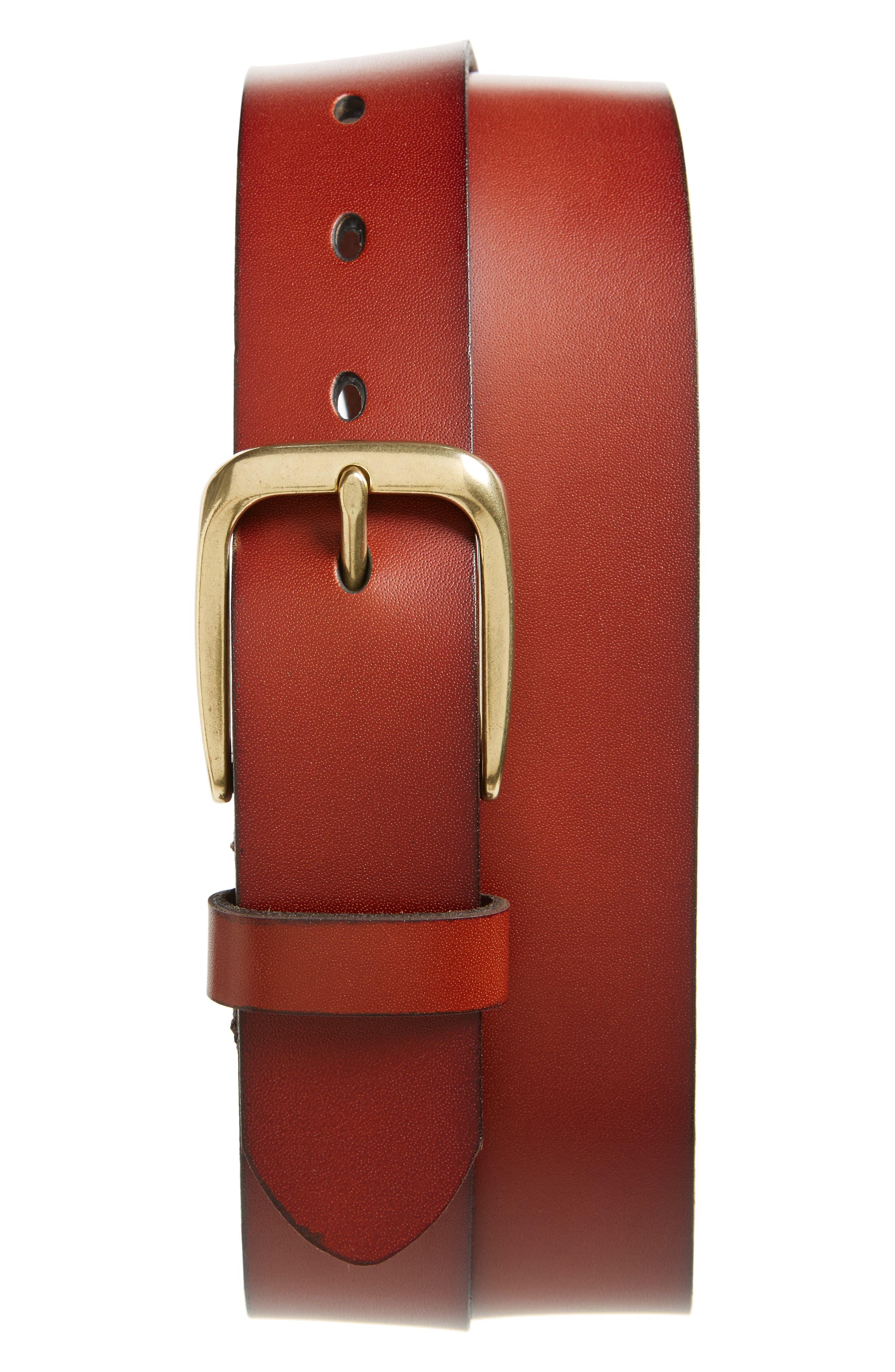 Nordstrom Men's Shop Valencia Embossed Leather Belt
