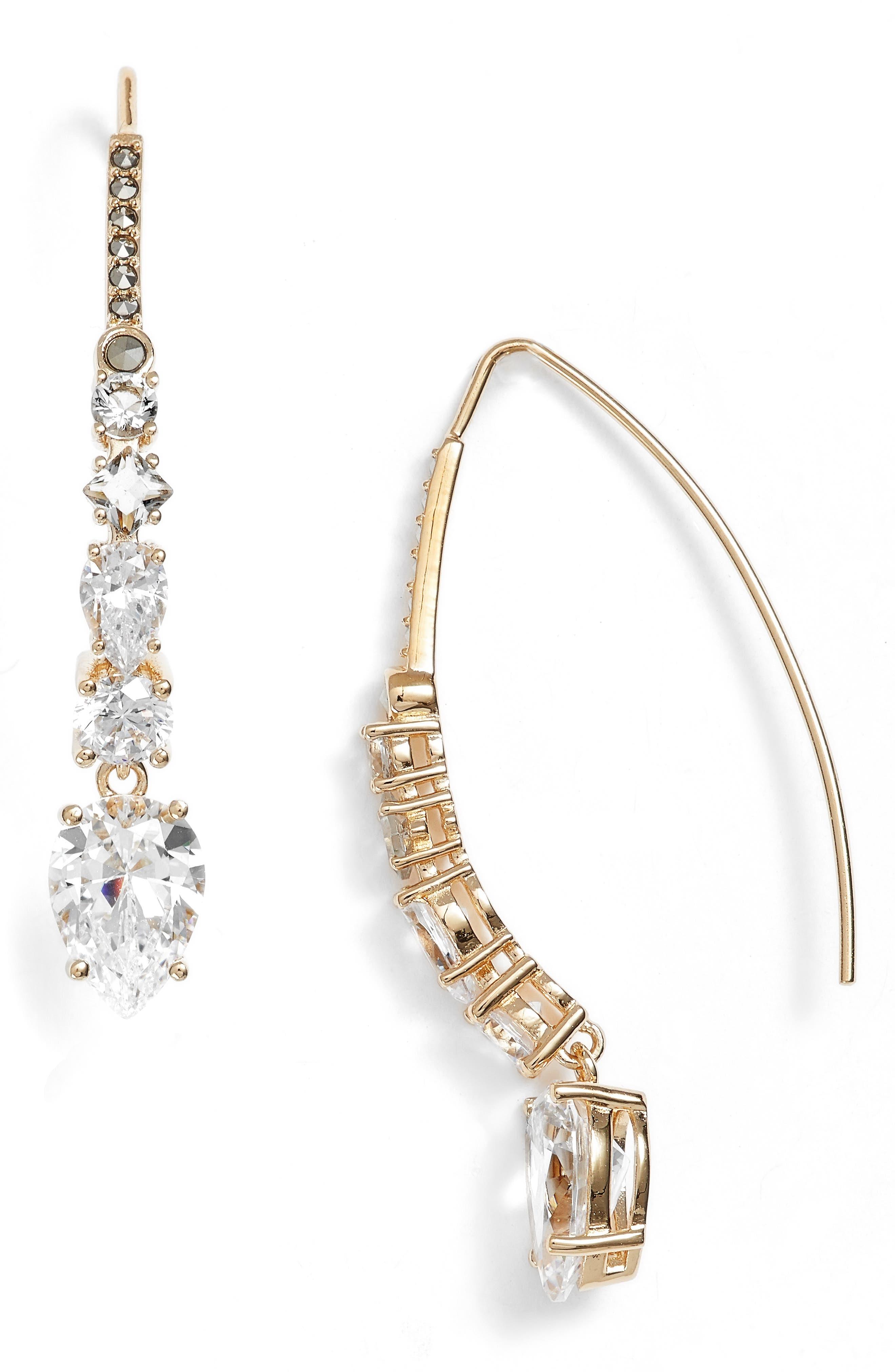 Judith Jack Cubic Zirconia Threader Earrings