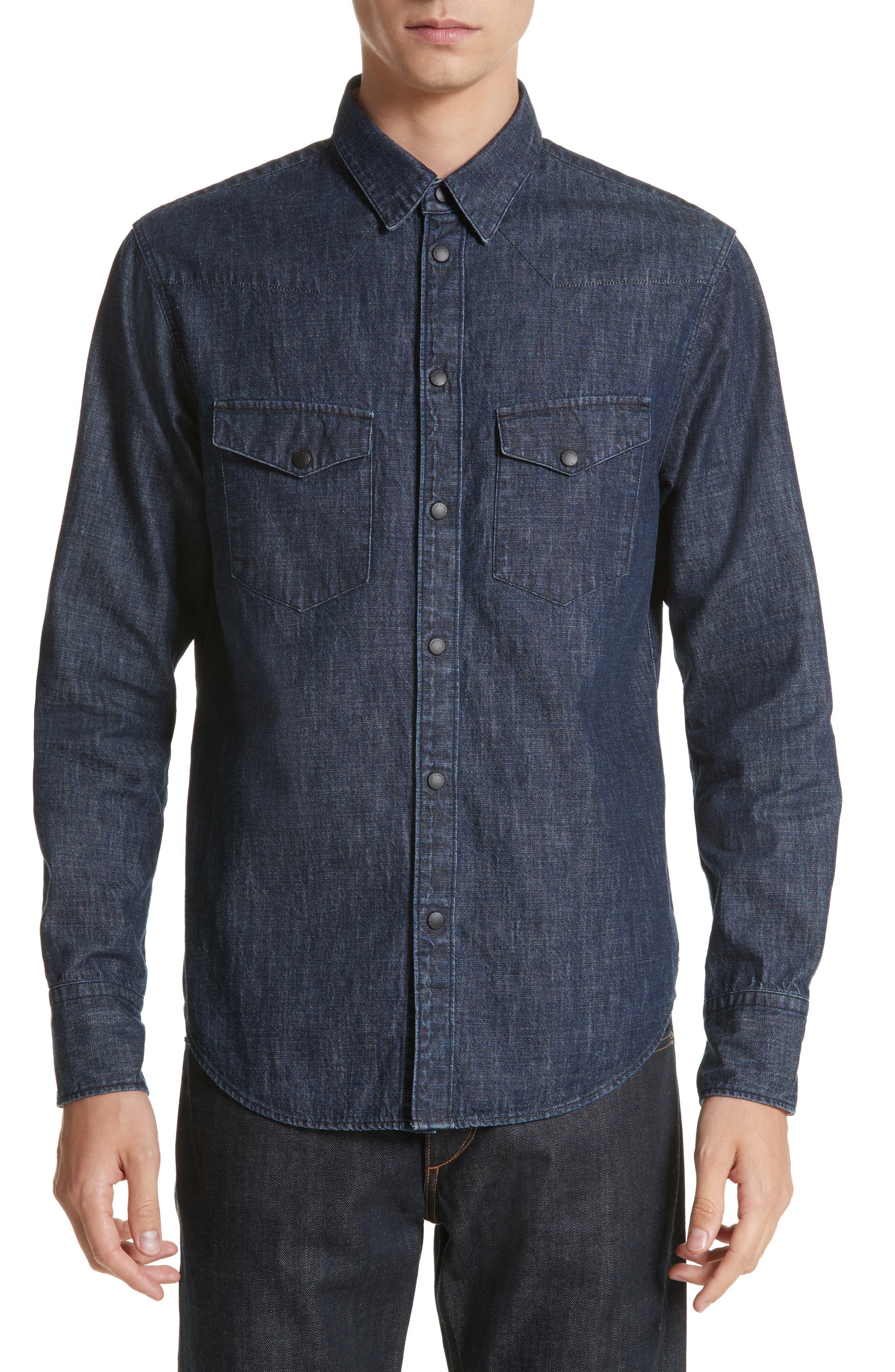 Beck Denim Shirt,                         Main,                         color, Indigo