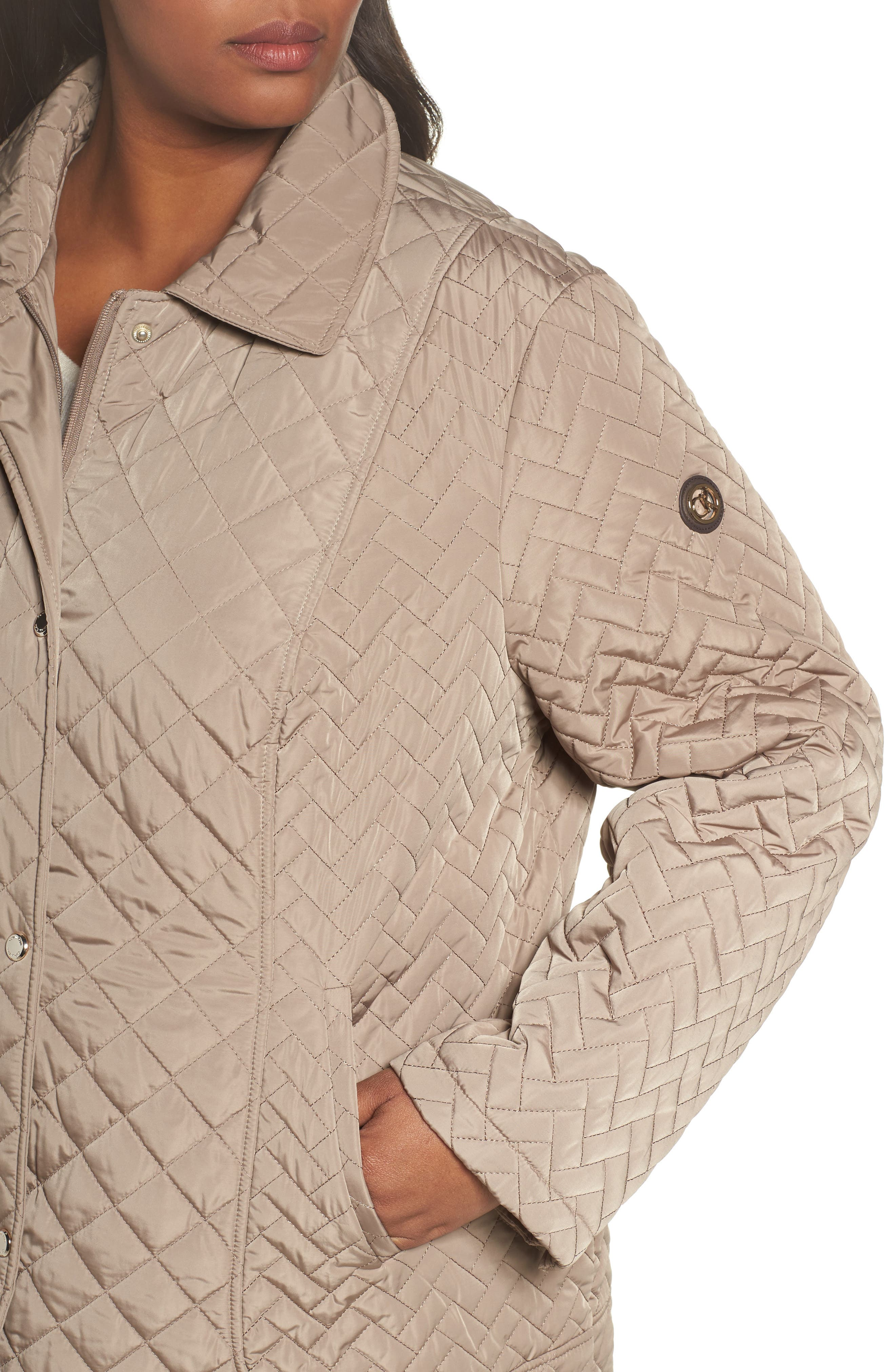 Water Resistant Diamond Quilted Jacket,                             Alternate thumbnail 4, color,                             Owl