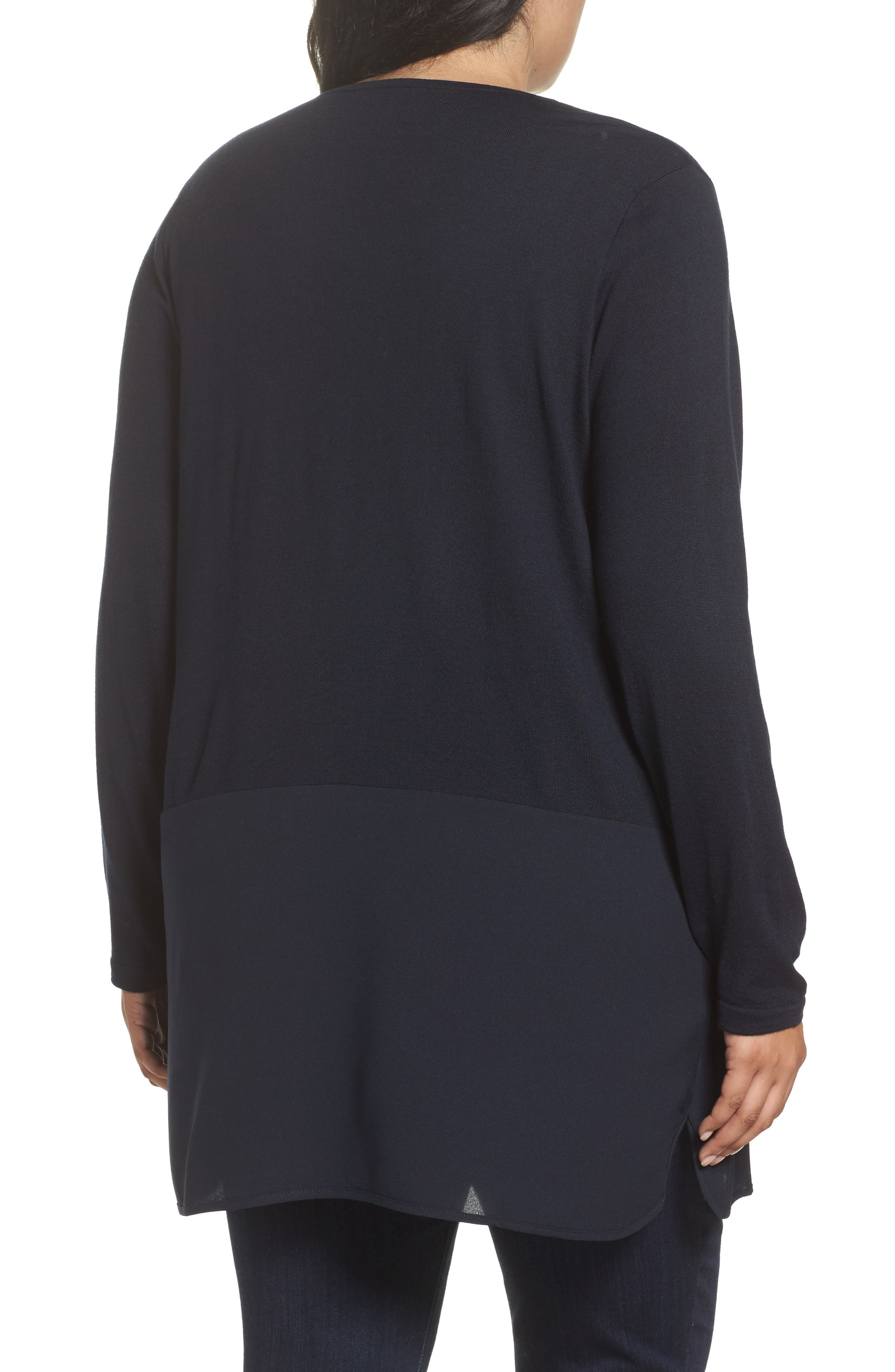 Alternate Image 2  - Persona by Marina Rinaldi Adamo MIxed Media Sweater (Plus Size)