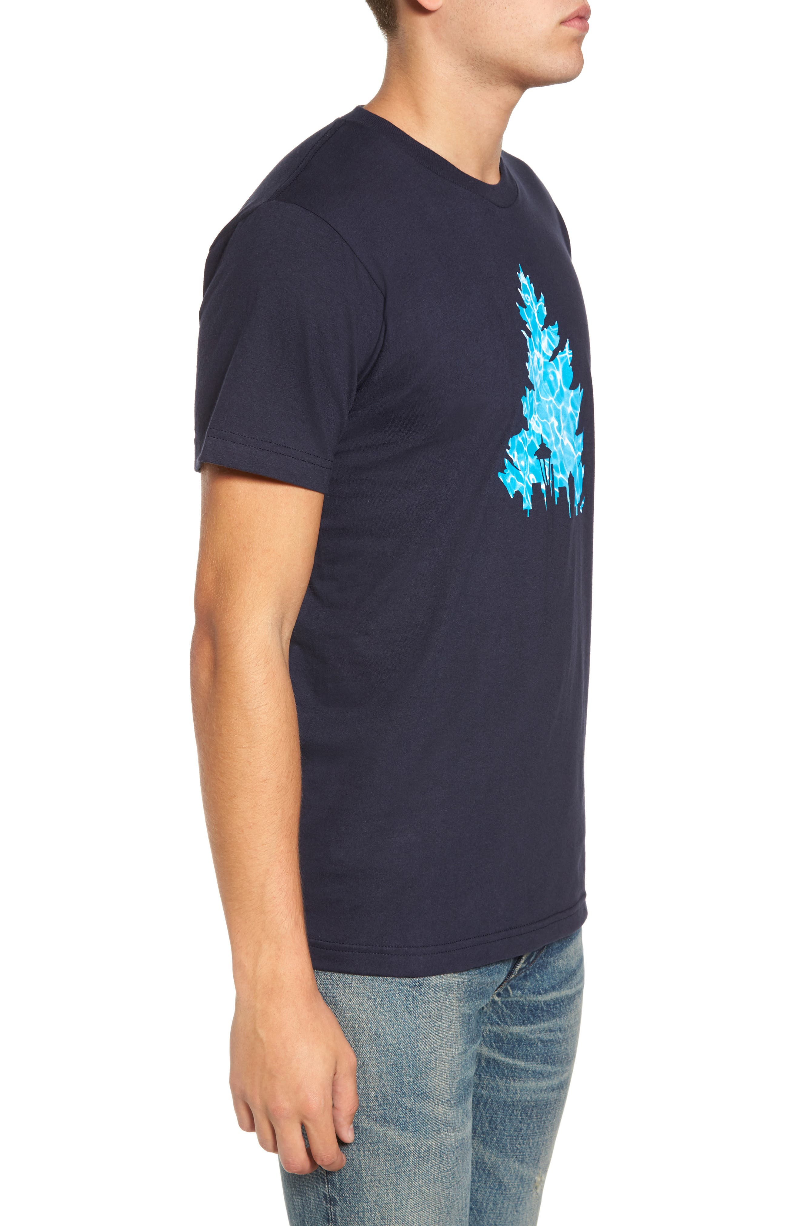 Johnny Tree Pool Graphic T-Shirt,                             Alternate thumbnail 3, color,                             Navy