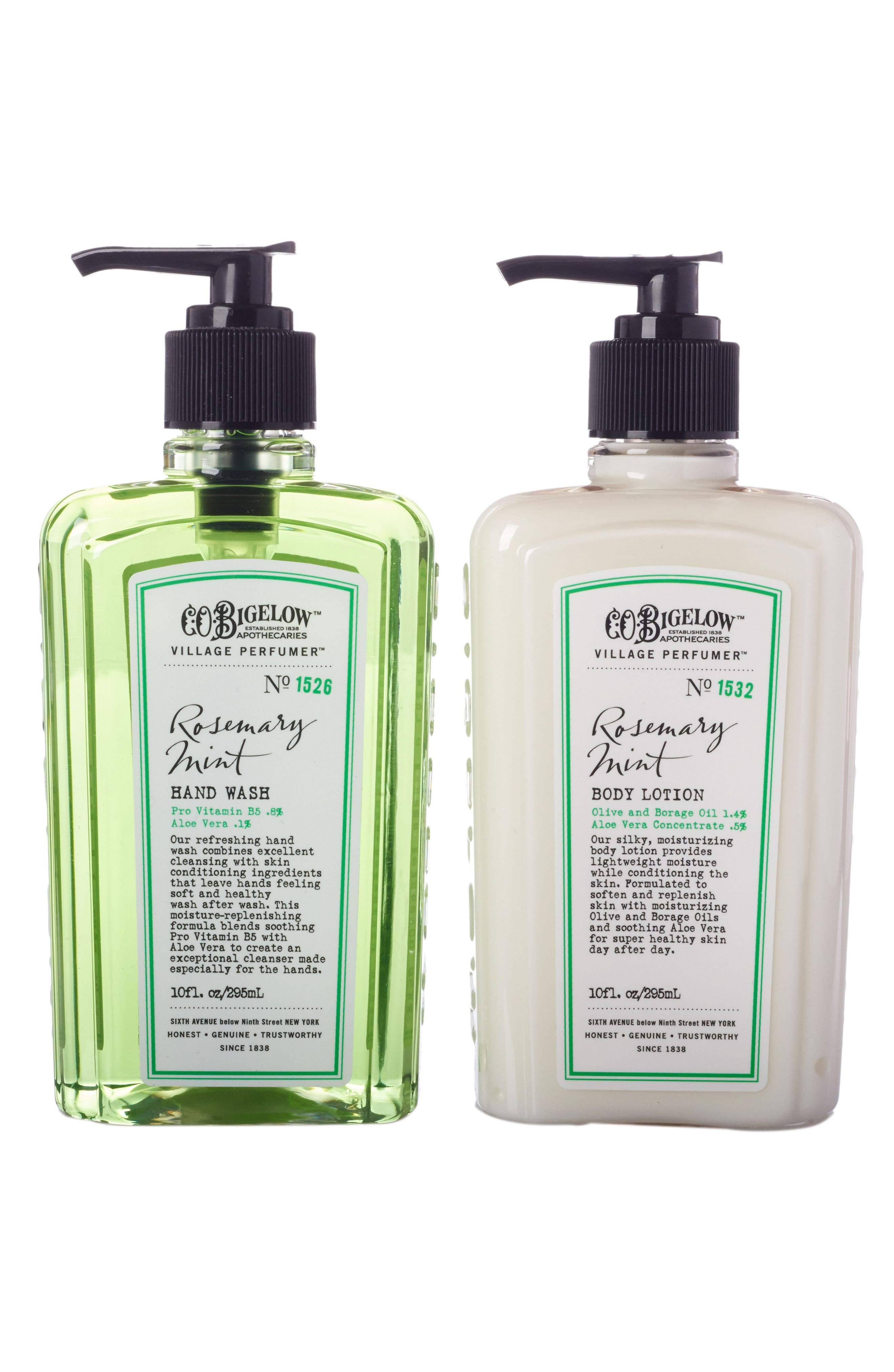 Alternate Image 2  - C.O. Bigelow® Rosemary Mint Hand Wash & Body Lotion Duo