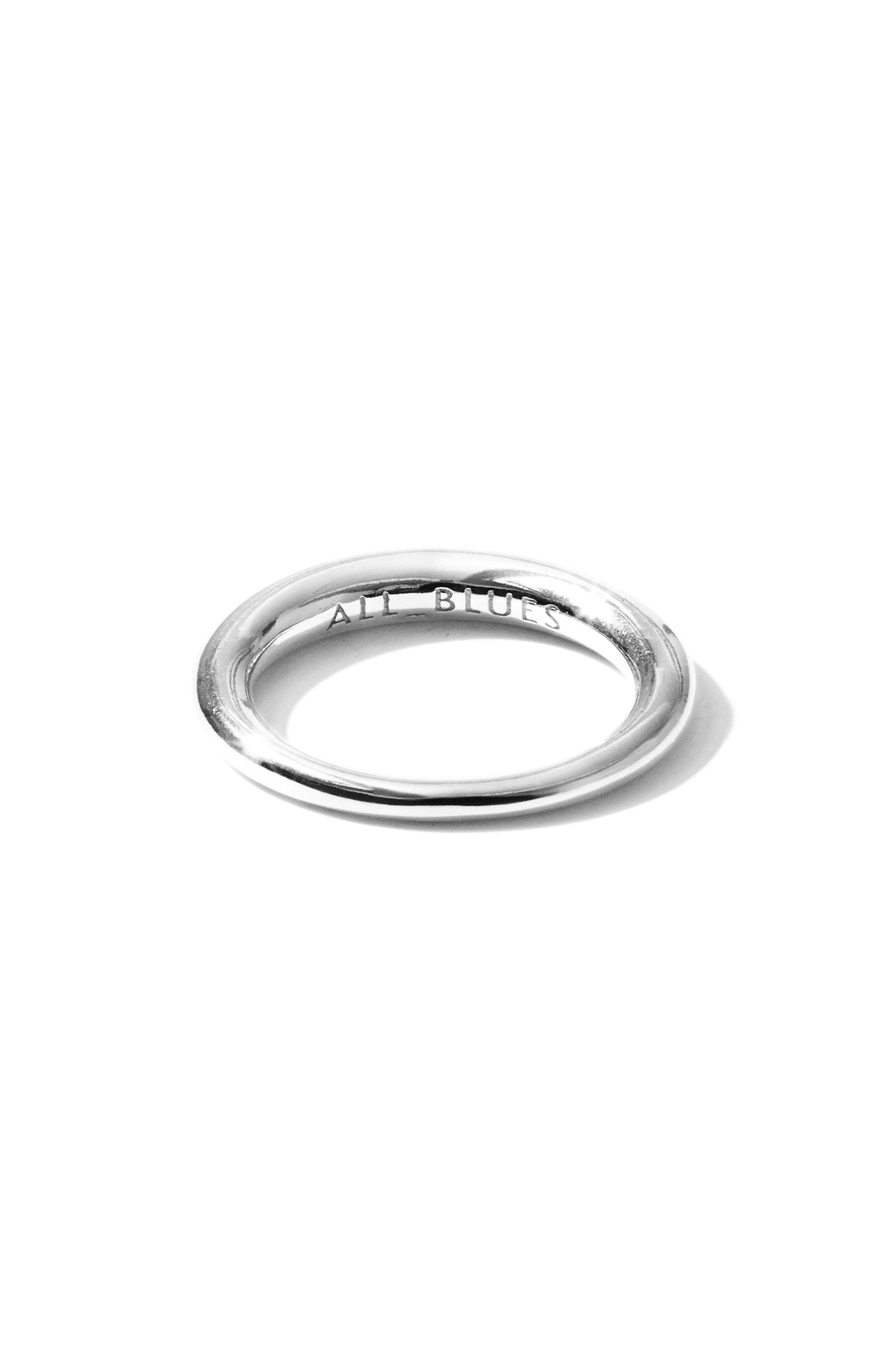 Alternate Image 5  - All Blues Small Snake Polished Silver Ring