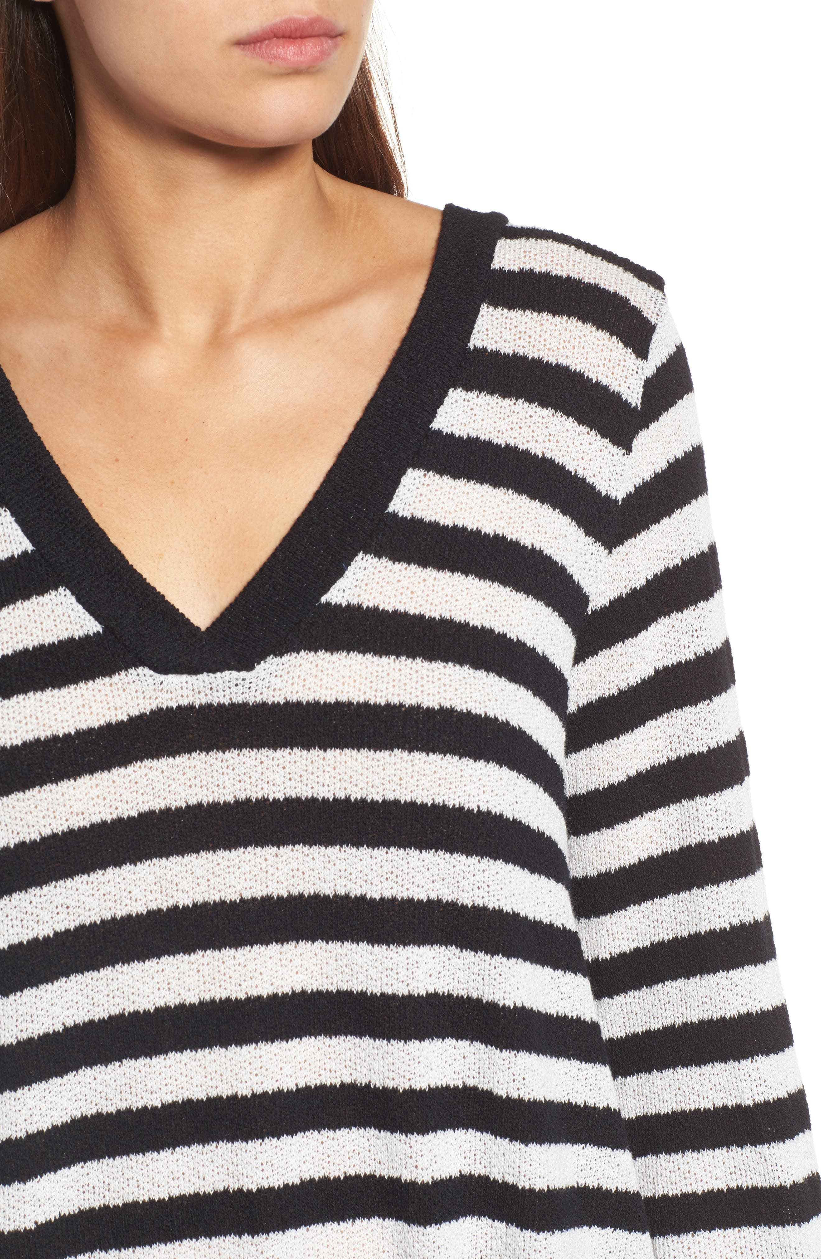 Alternate Image 4  - Caslon® Double V-Neck Relaxed Pullover