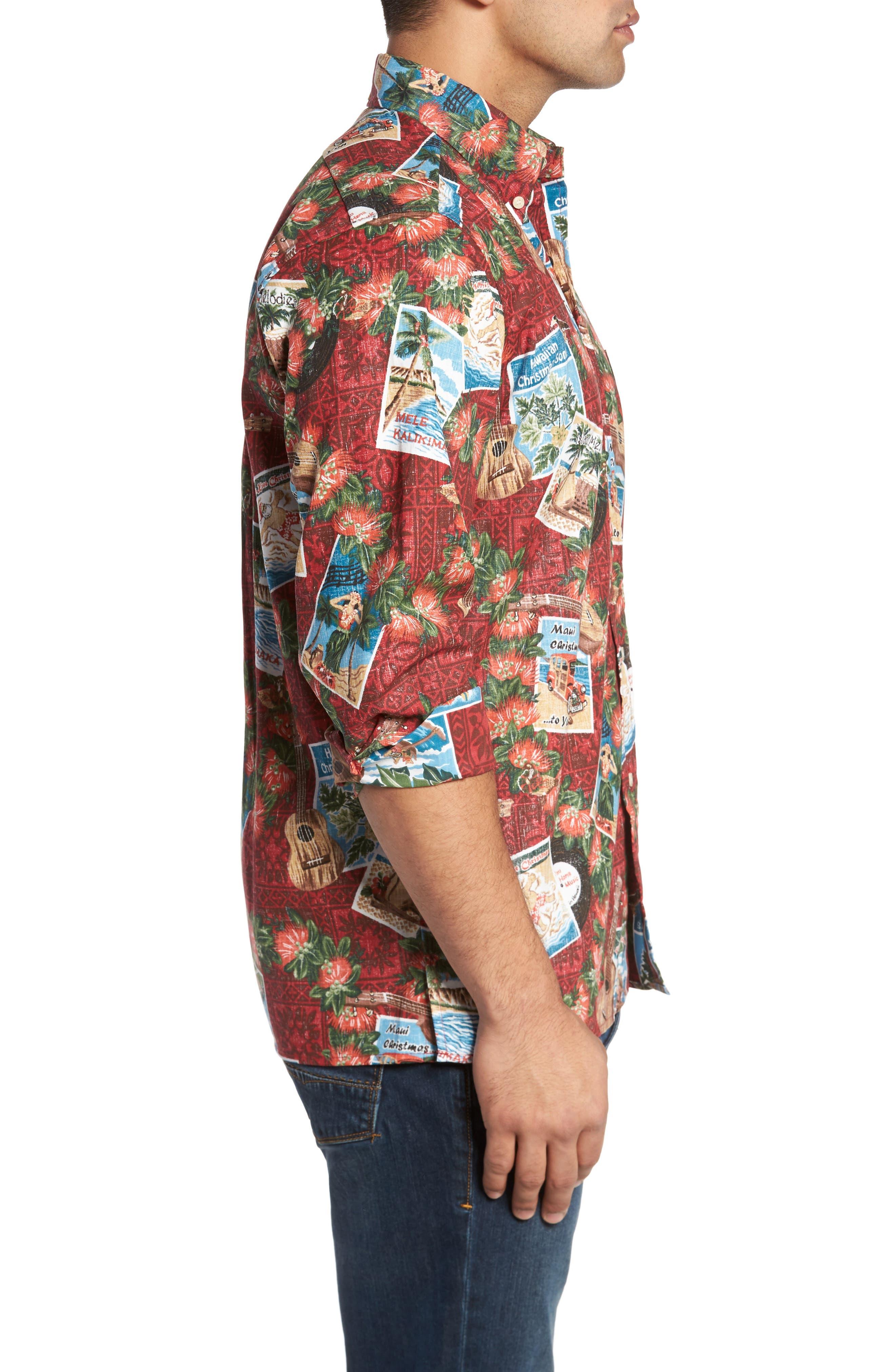 Alternate Image 3  - Reyn Spooner Hawaiian Christmas 2017 Sport Shirt