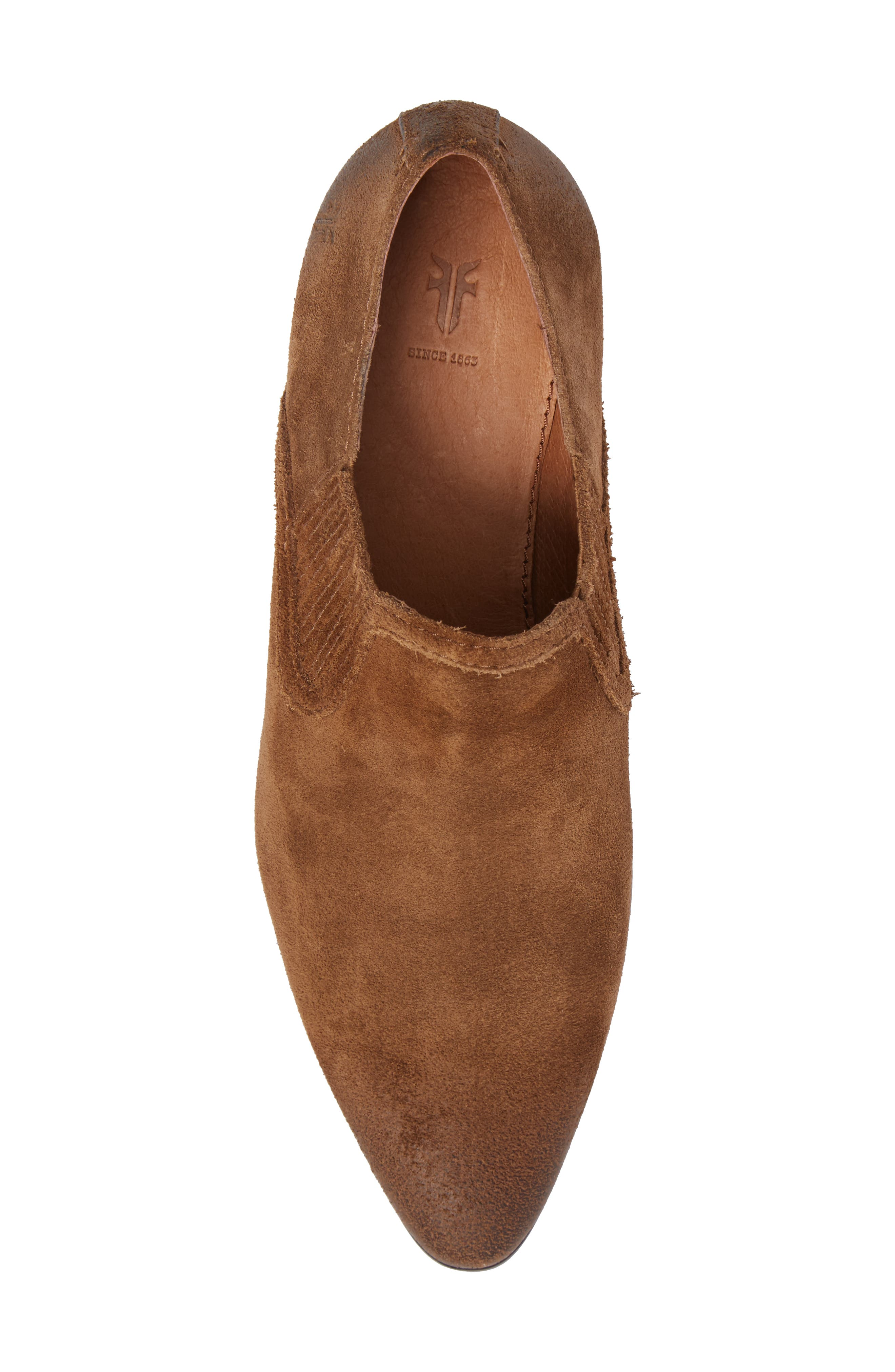 Eleanor Pointy Toe Bootie,                             Alternate thumbnail 5, color,                             Chestnut
