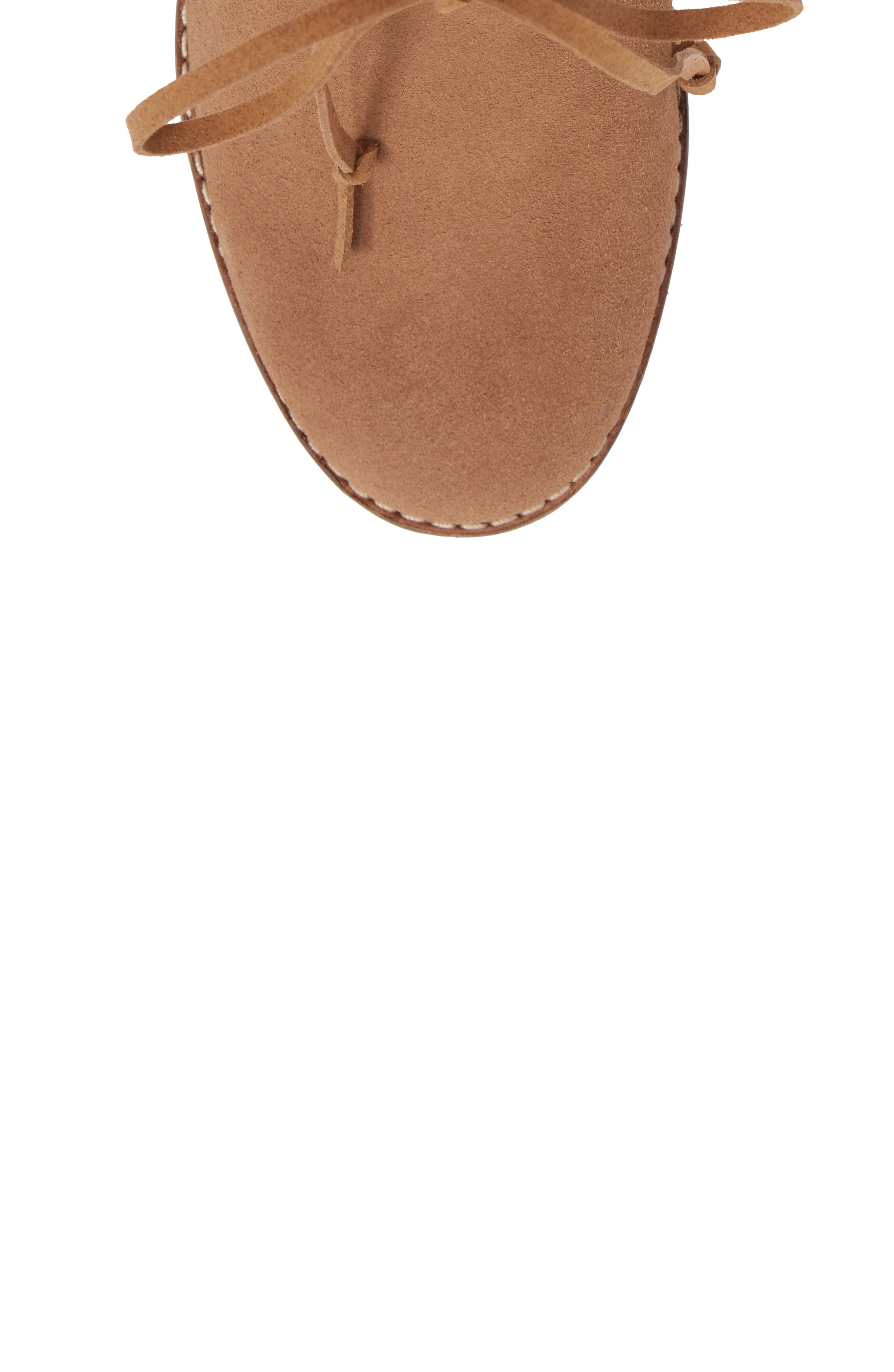 Mila Bootie,                             Alternate thumbnail 5, color,                             Toffee Suede