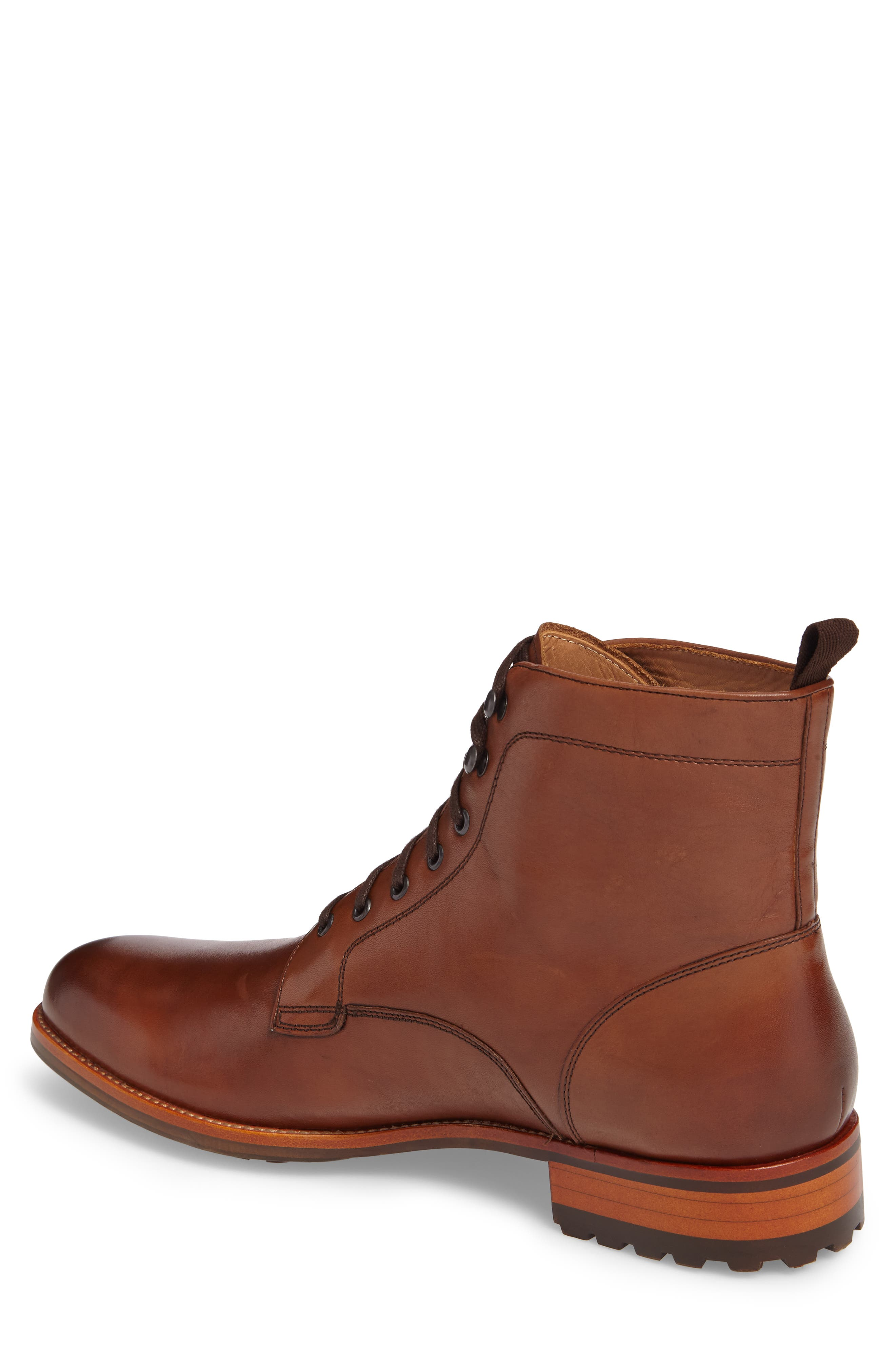 Axeford Plain Toe Boot,                             Alternate thumbnail 2, color,                             Luggage Leather