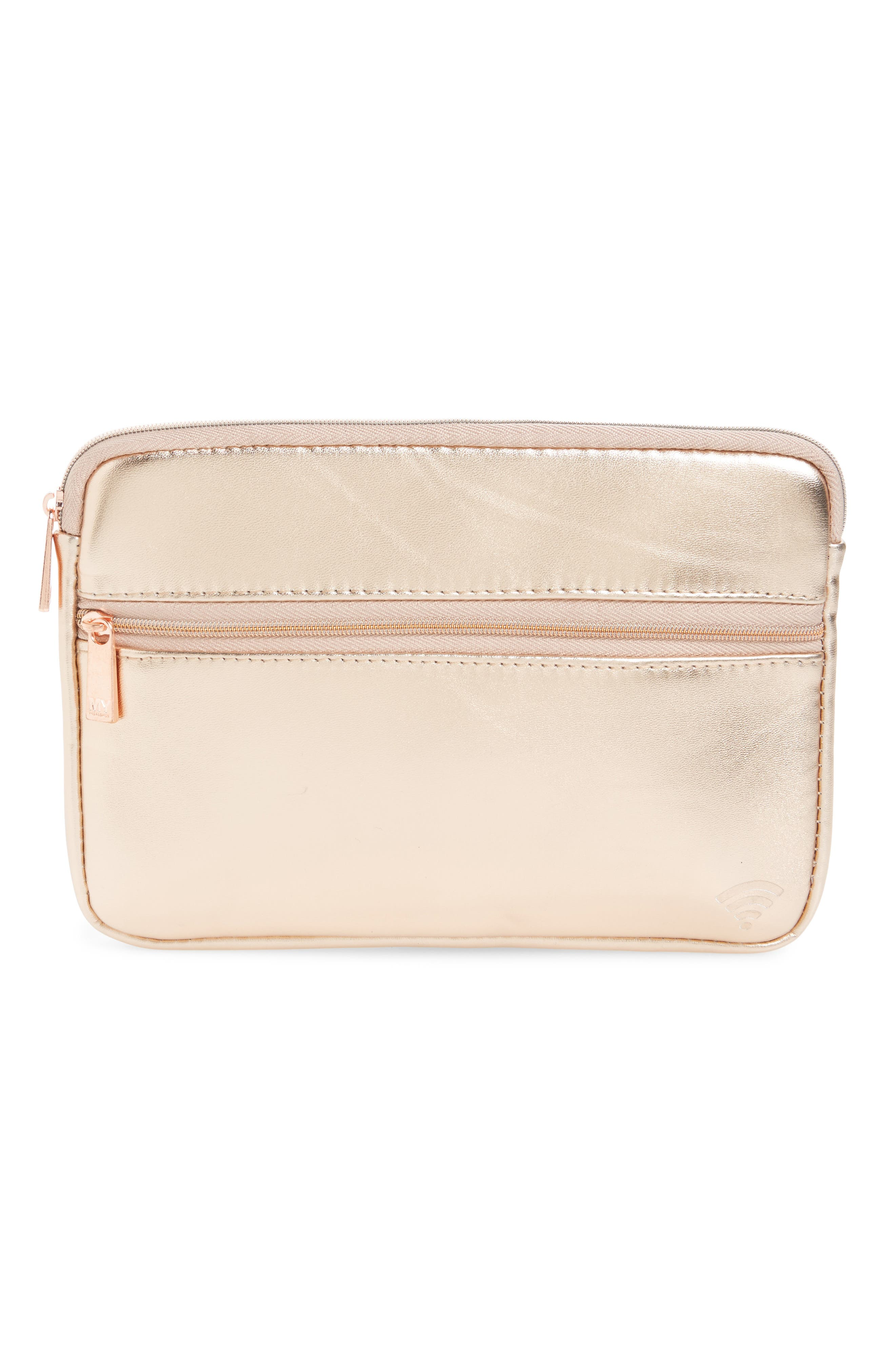 Goddess Small Tech Organizing Case,                         Main,                         color, Rose Gold