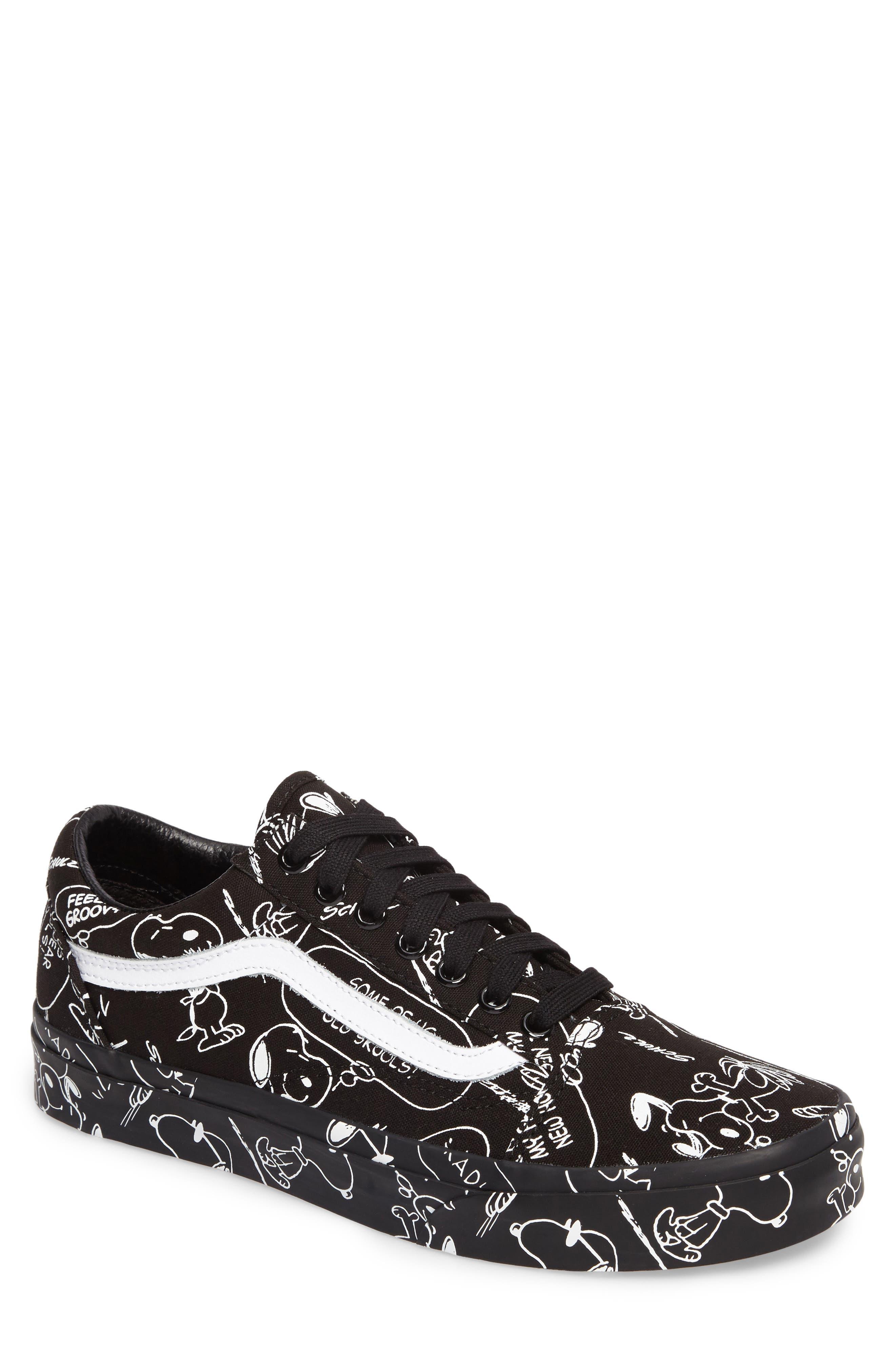 x Peanuts<sup>®</sup> Old Skool Sneaker,                             Main thumbnail 1, color,                             Black Canvas