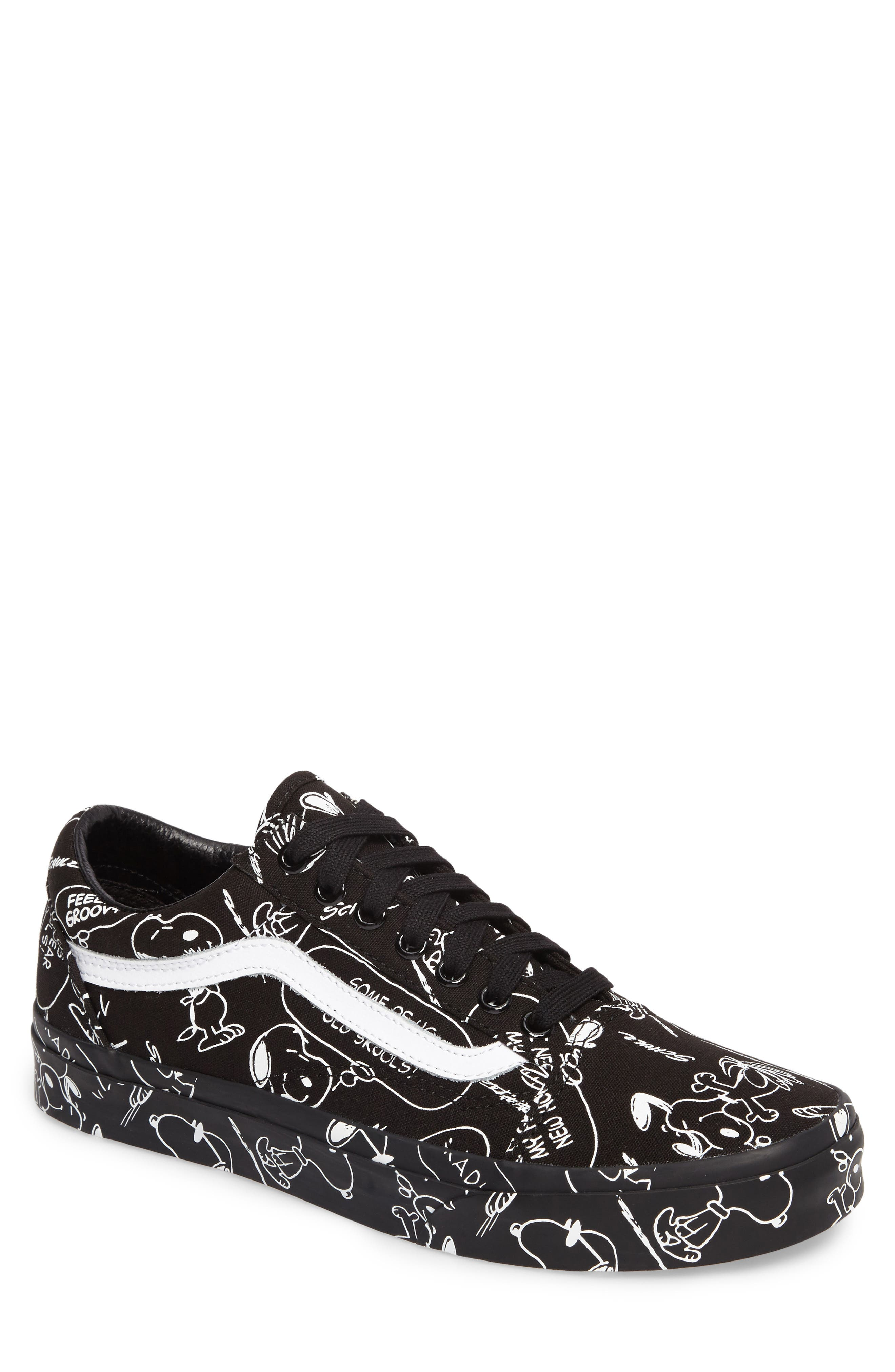 x Peanuts<sup>®</sup> Old Skool Sneaker,                         Main,                         color, Black Canvas