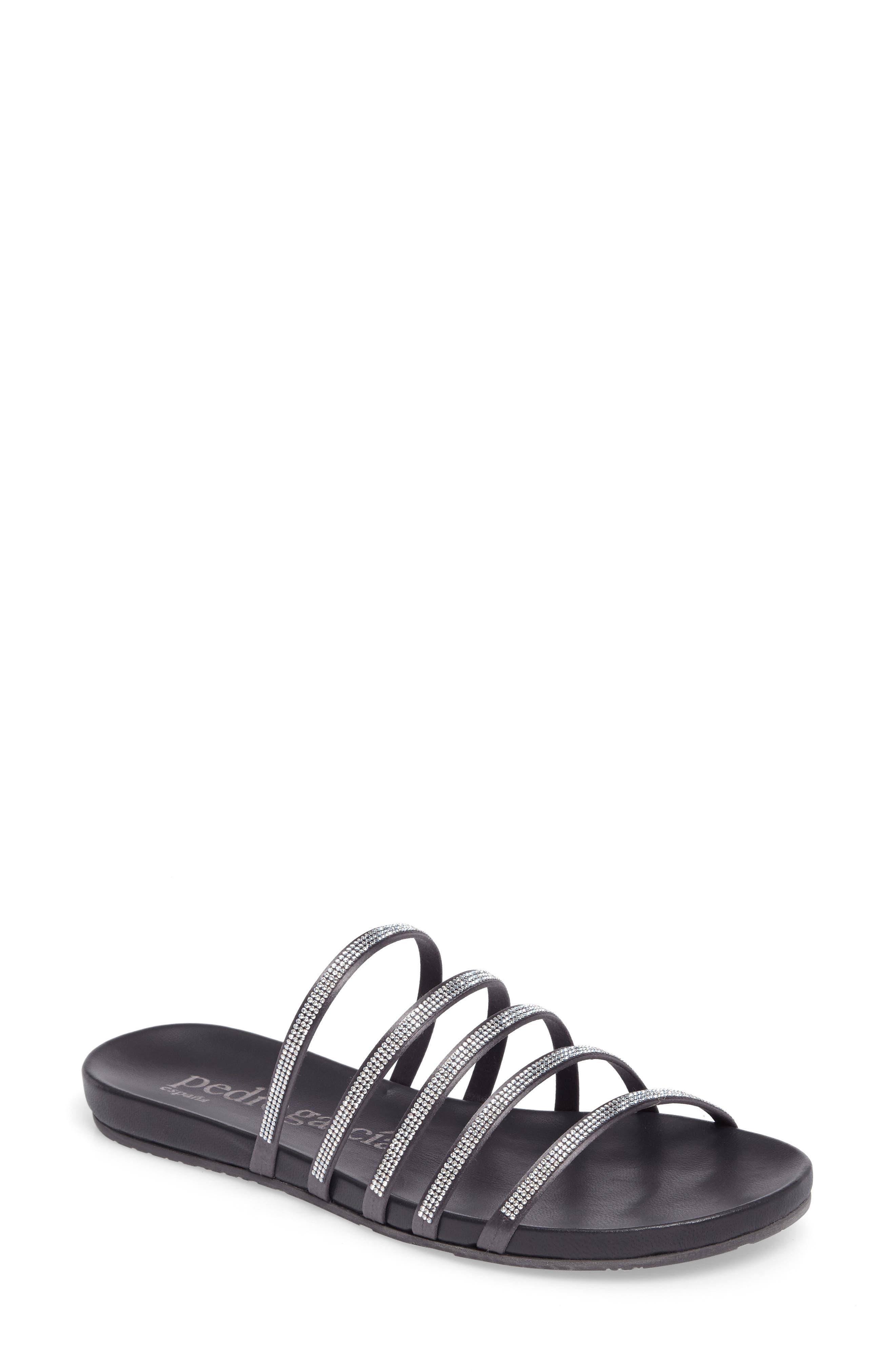 Gala Slide Sandal,                         Main,                         color, Fox Satin