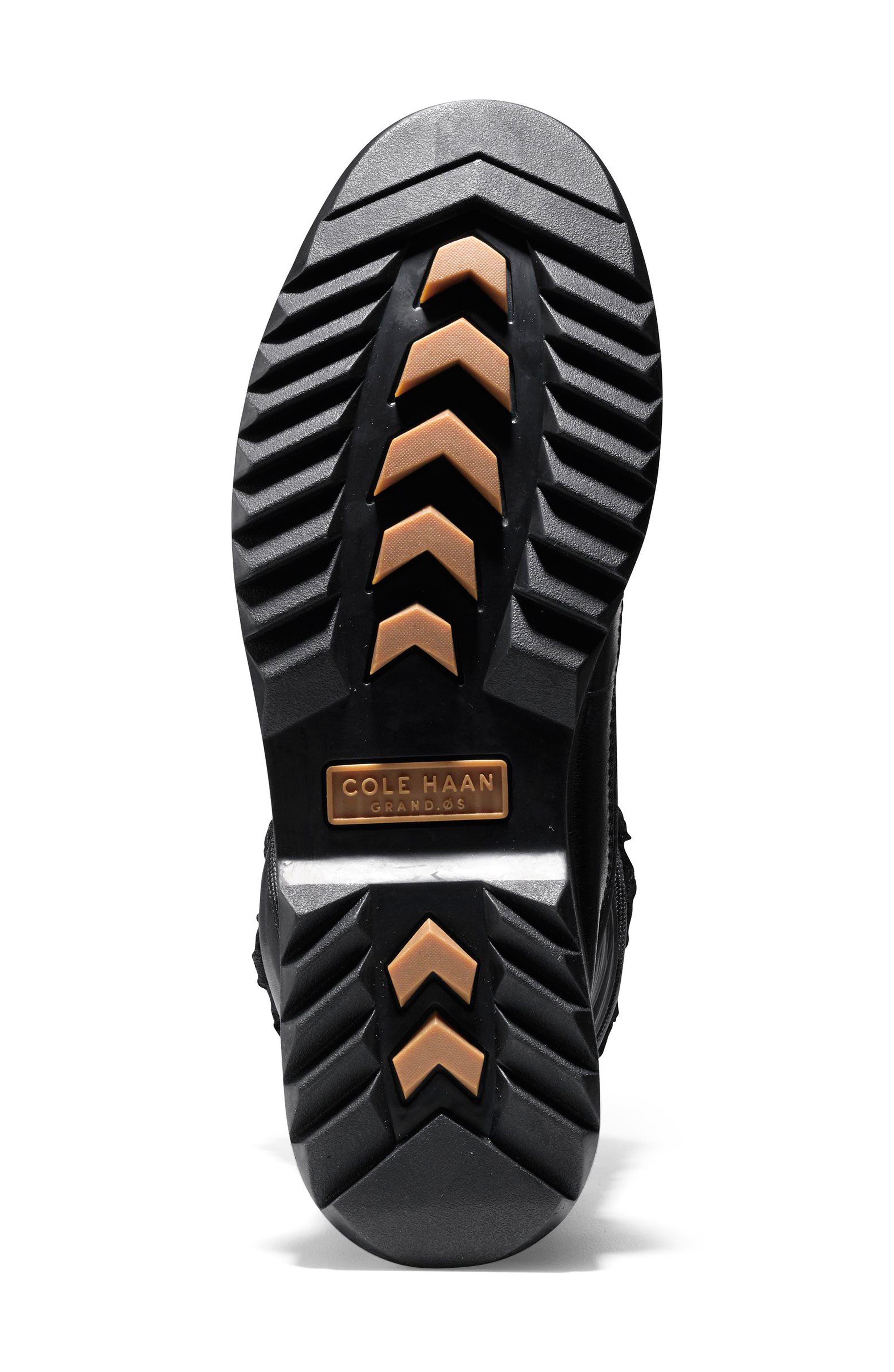 Millbridge Waterproof Boot,                             Alternate thumbnail 5, color,                             Black Leather