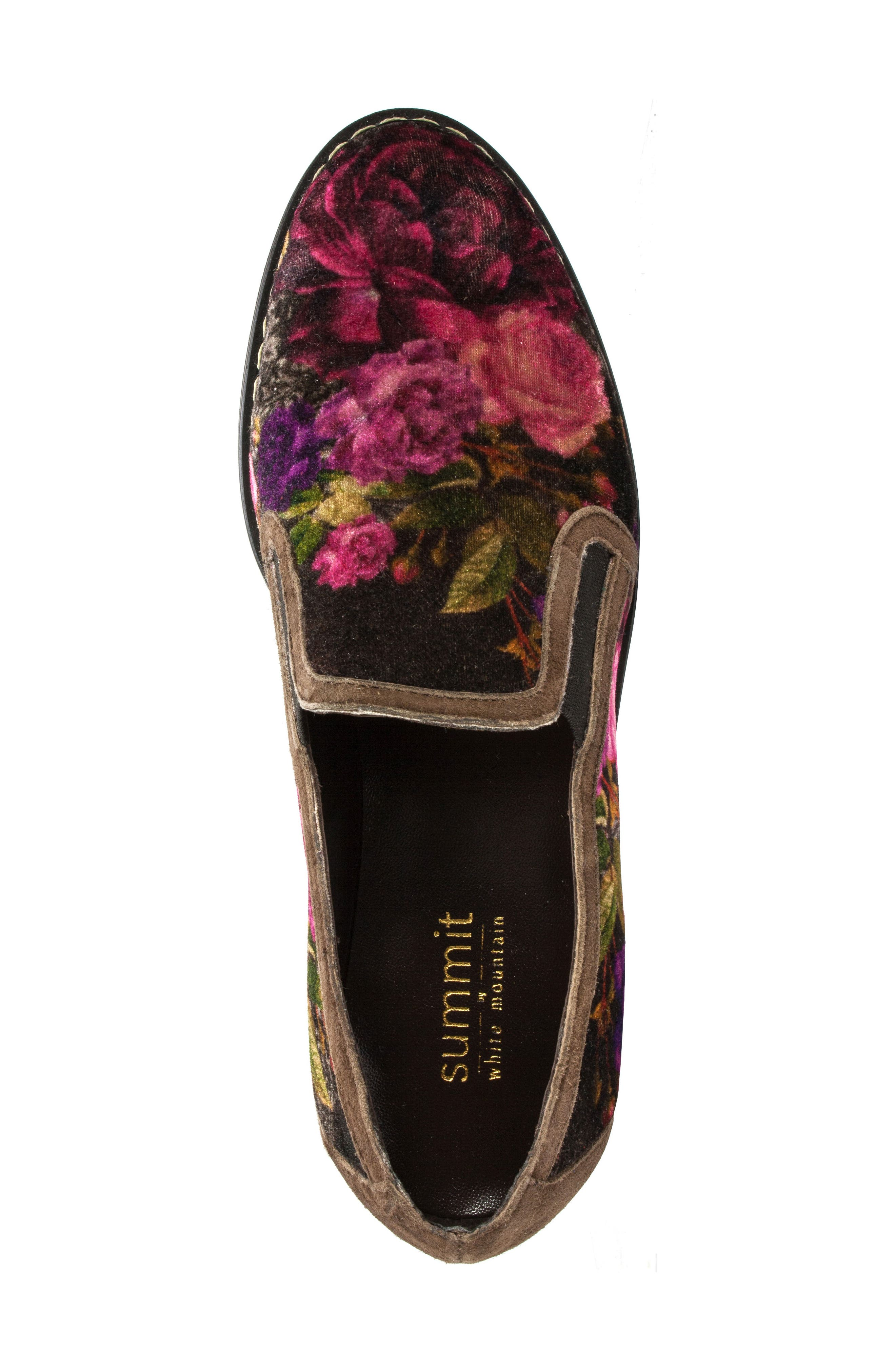 Belton Platform Slip-On,                             Alternate thumbnail 2, color,                             Brown Multi Velvet